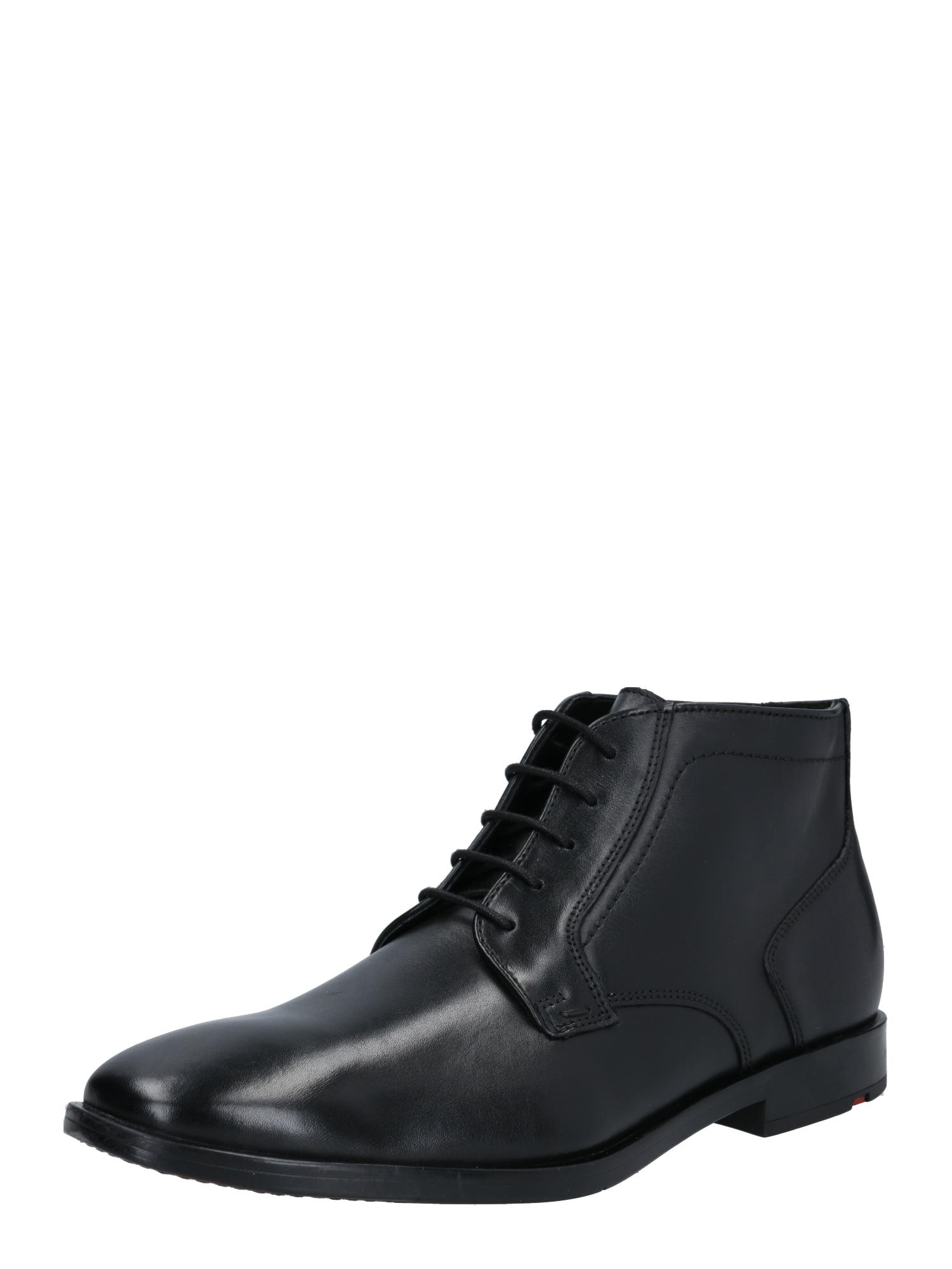 LLOYD Auliniai batai su raišteliais juoda