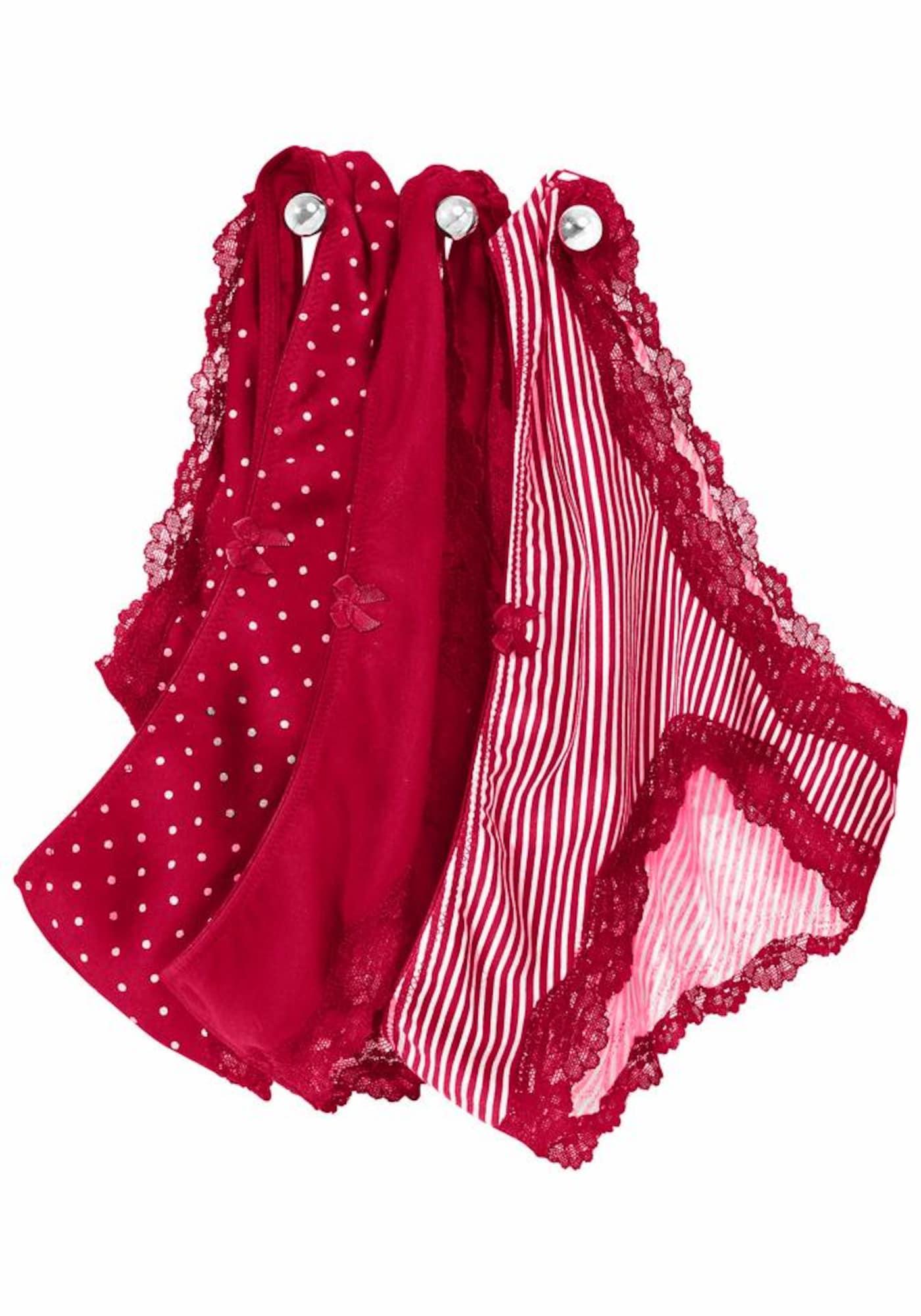 LASCANA Kalhotky  krvavě červená