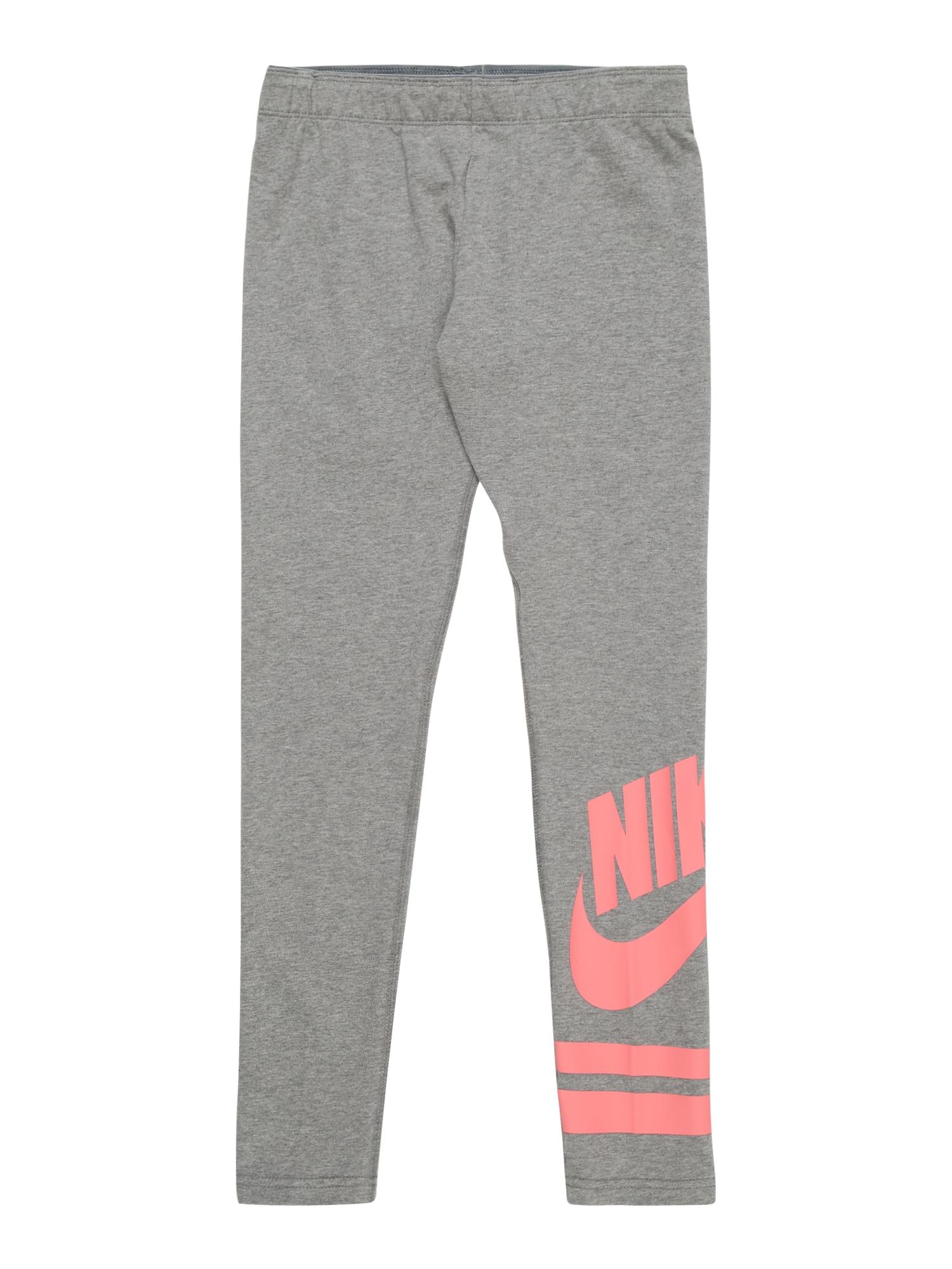 Nike Sportswear Tamprės margai pilka / koralų splava