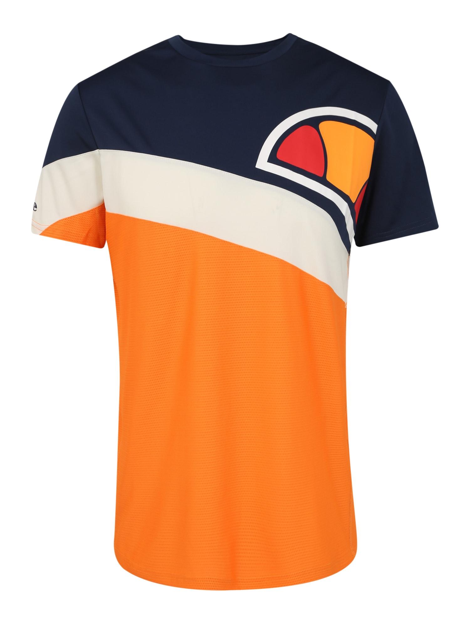 ELLESSE Sportiniai marškinėliai 'REVENTON' tamsiai mėlyna / tamsiai oranžinė
