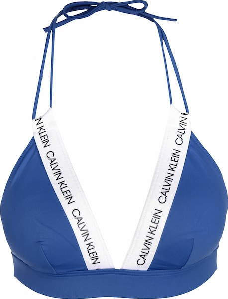 Bademode - Bikini Oberteil ' Fixed Triangle RP W ' › Calvin Klein Swimwear › blau  - Onlineshop ABOUT YOU