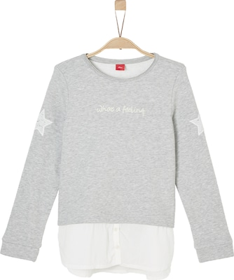 S.Oliver Junior Big-Fit Sweatshirt im Layer-Look