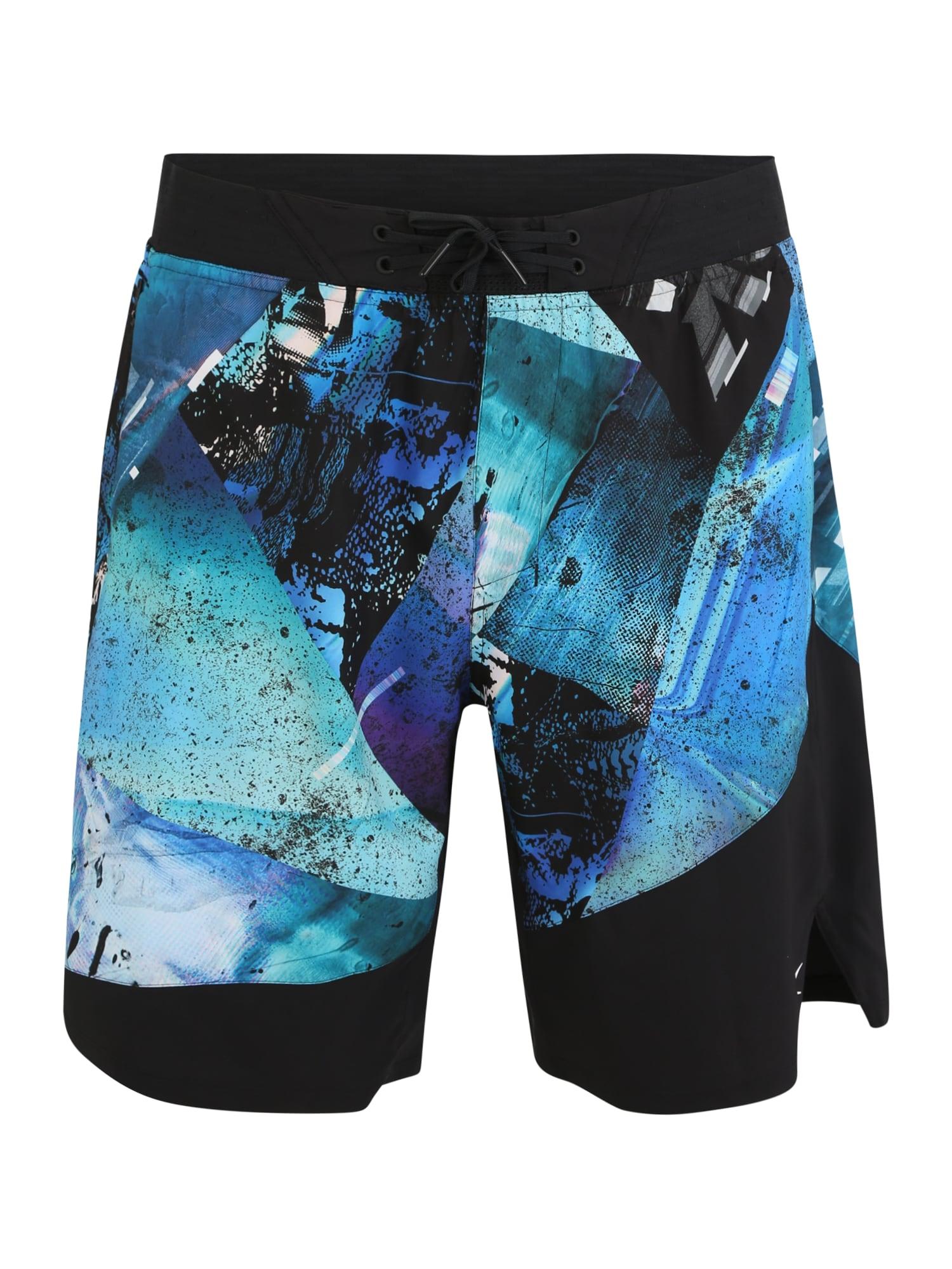 REEBOK Sportinės kelnės 'TS Epic Short Aop Q' mišrios spalvos / juoda / mėlyna