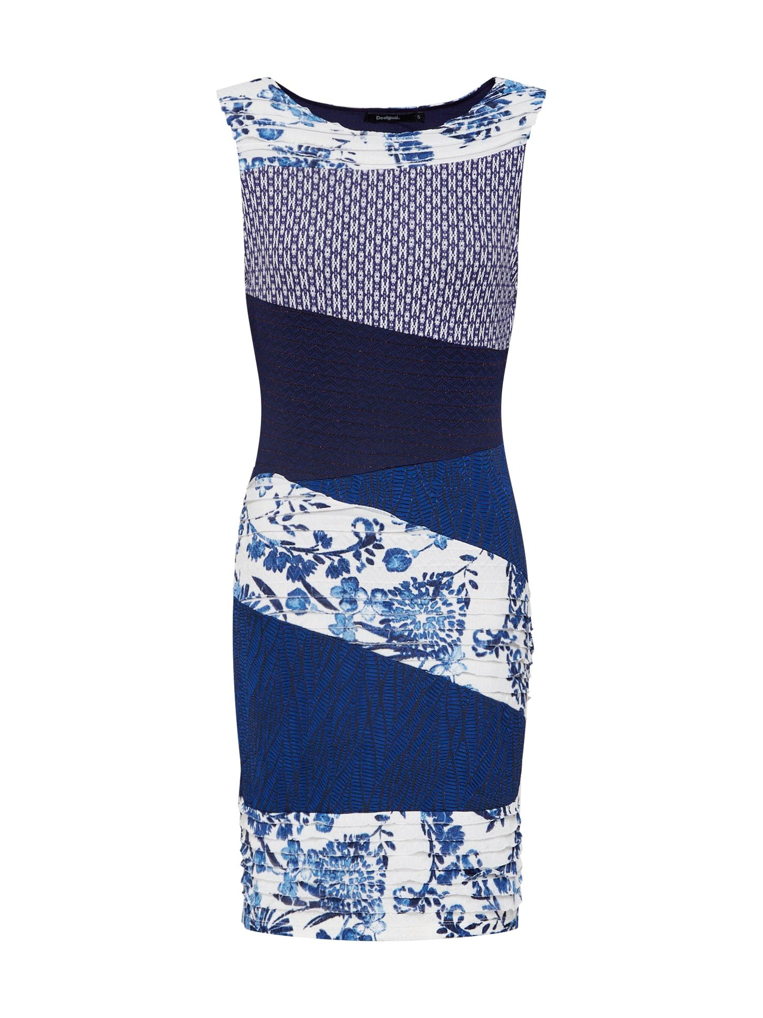 Šaty Vest_Olivia námořnická modř bílá Desigual
