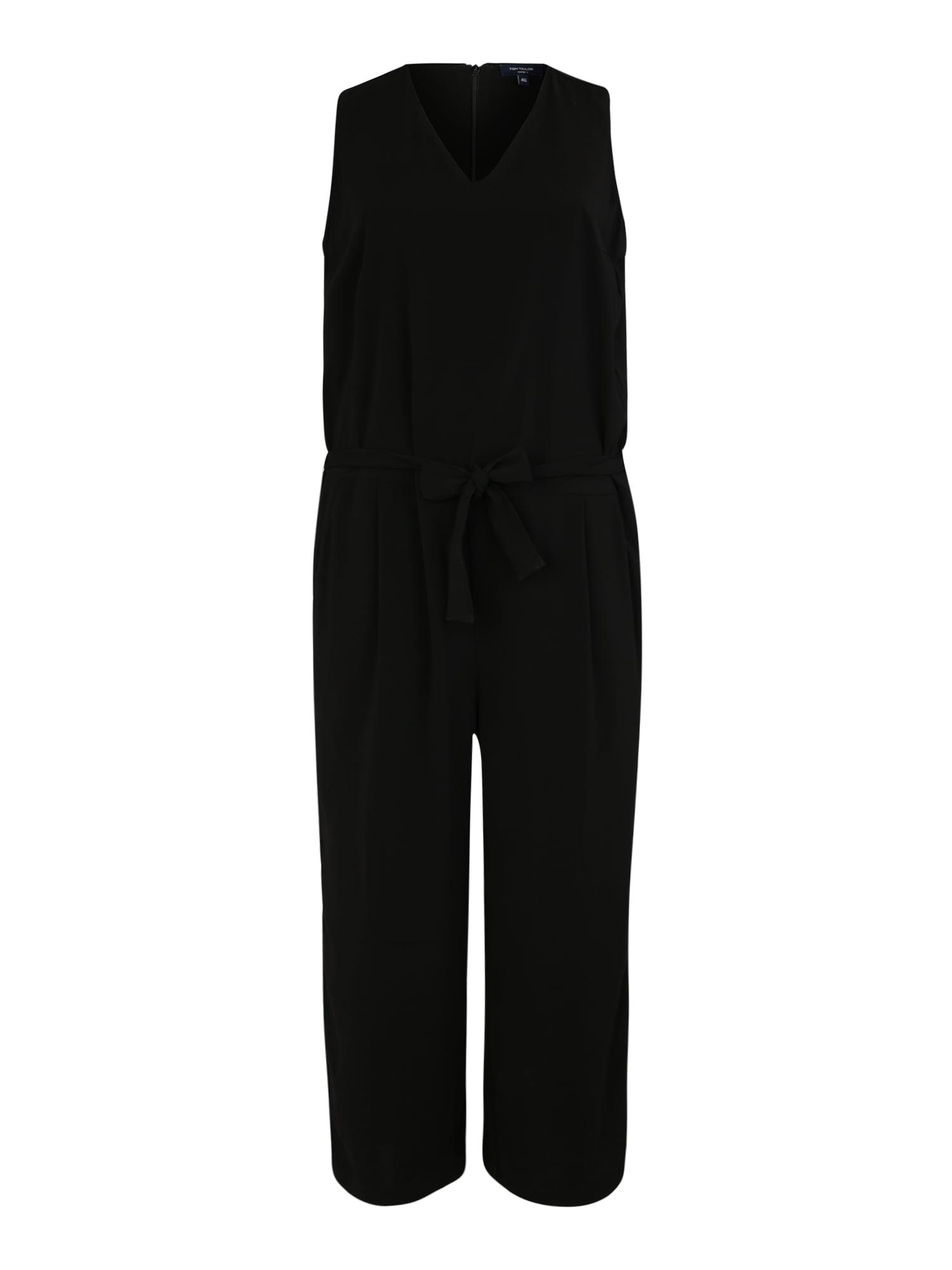 Tom Tailor Women + Kombinezono tipo kostiumas juoda