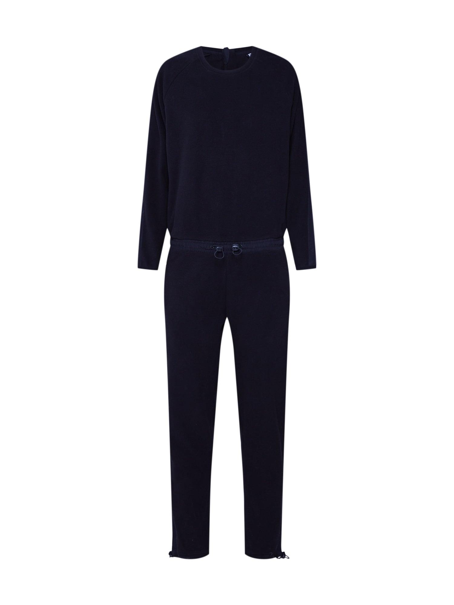 Urban Classics Kombinezono tipo kostiumas 'Ladies Polar Fleece Jumpsuit' juoda
