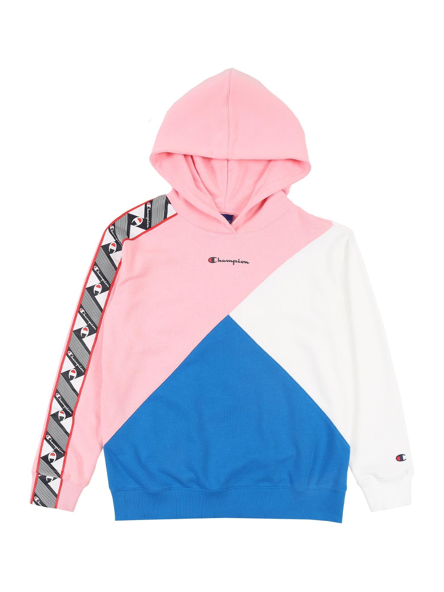 Champion Authentic Athletic Apparel Megztinis be užsegimo dangaus žydra / rožių spalva / balta