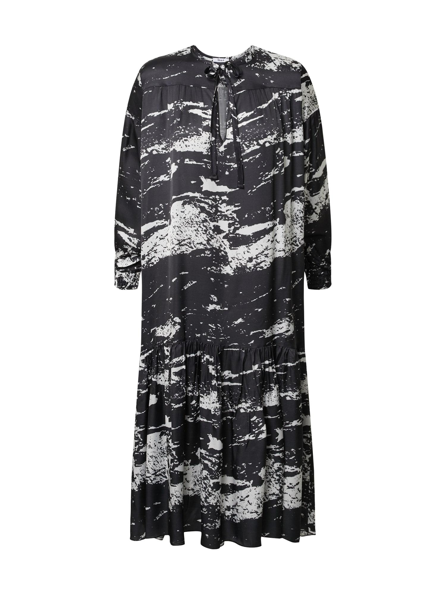 Liebesglück Palaidinės tipo suknelė balta / juoda