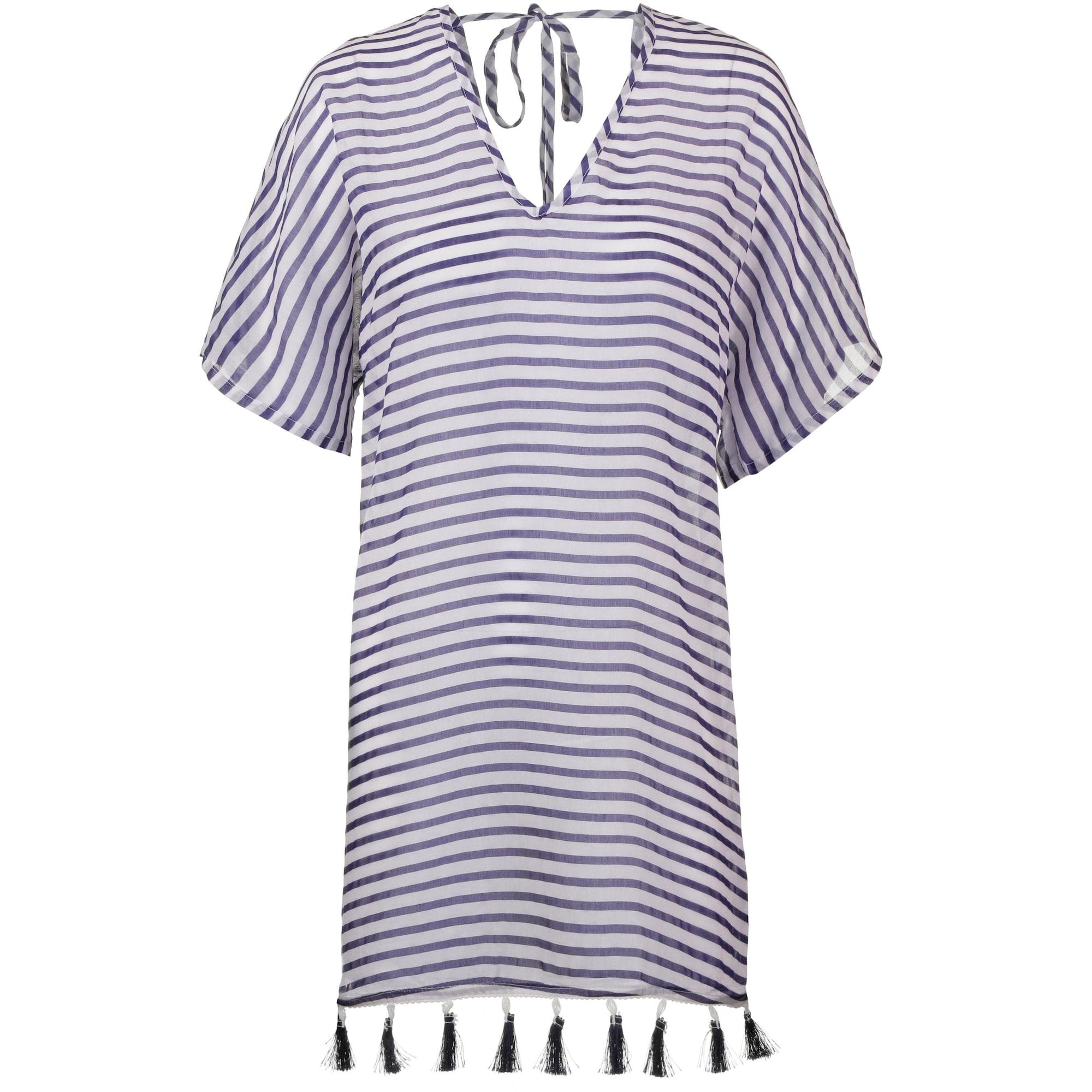 VENICE BEACH Paplūdimio suknelė tamsiai mėlyna jūros spalva / balta