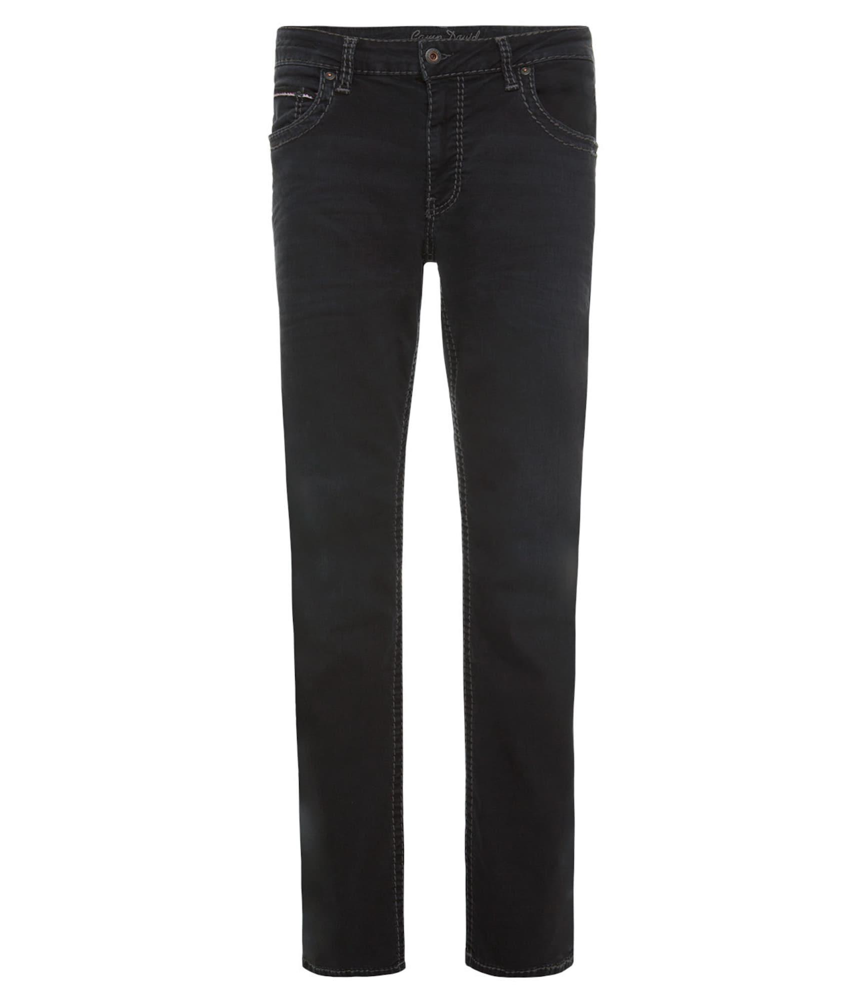CAMP DAVID Džinsai juodo džinso spalva