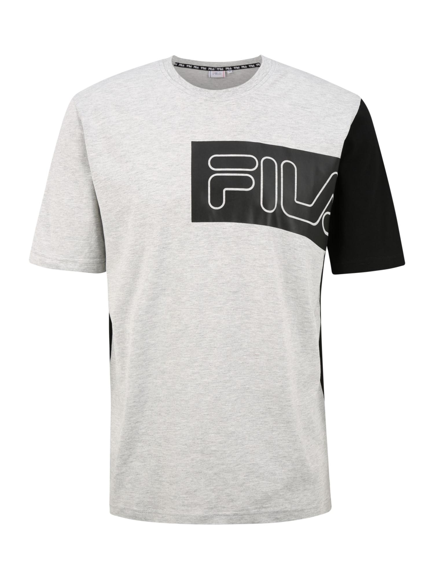 FILA Sportiniai marškinėliai 'LAZAR' juoda / šviesiai pilka