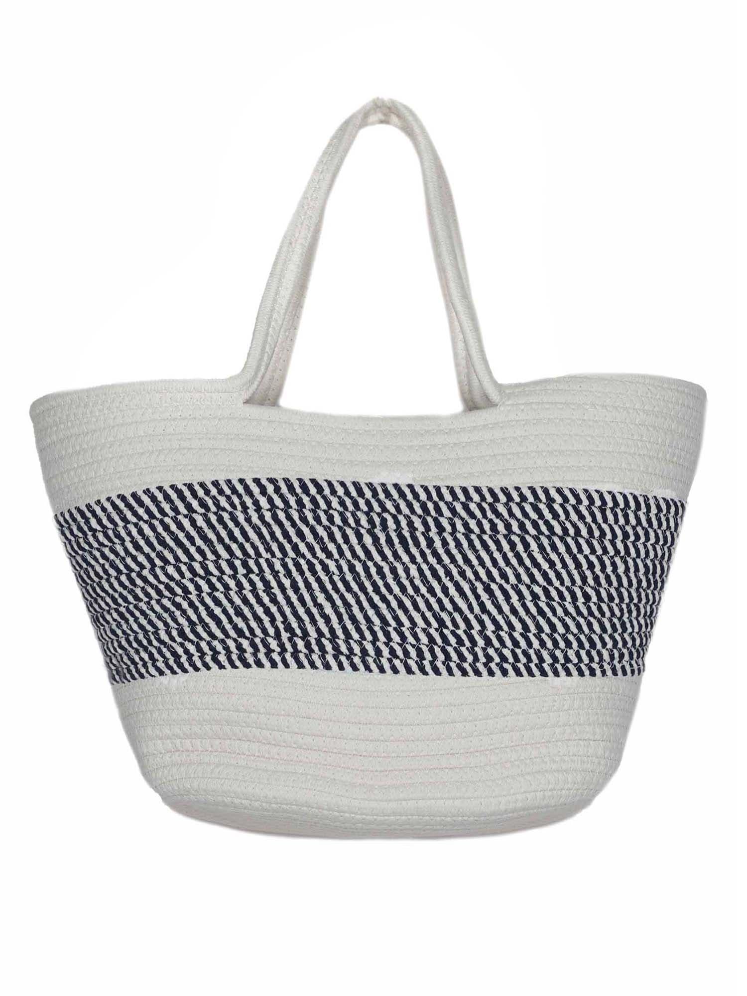 Zwillingsherz Paplūdimio krepšys tamsiai mėlyna / balta