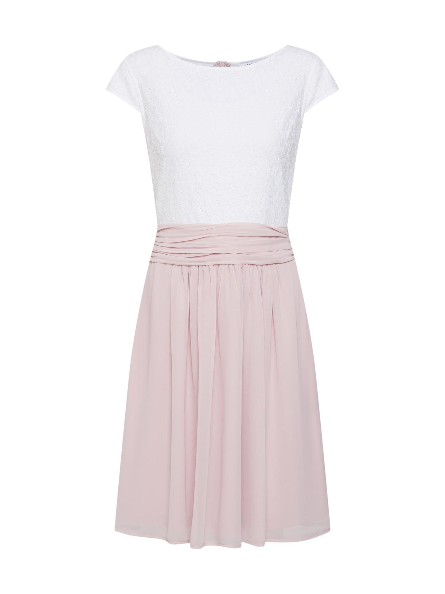 ABOUT YOU Trumpa kokteilinė suknelė 'Darlin' balta / rožių spalva