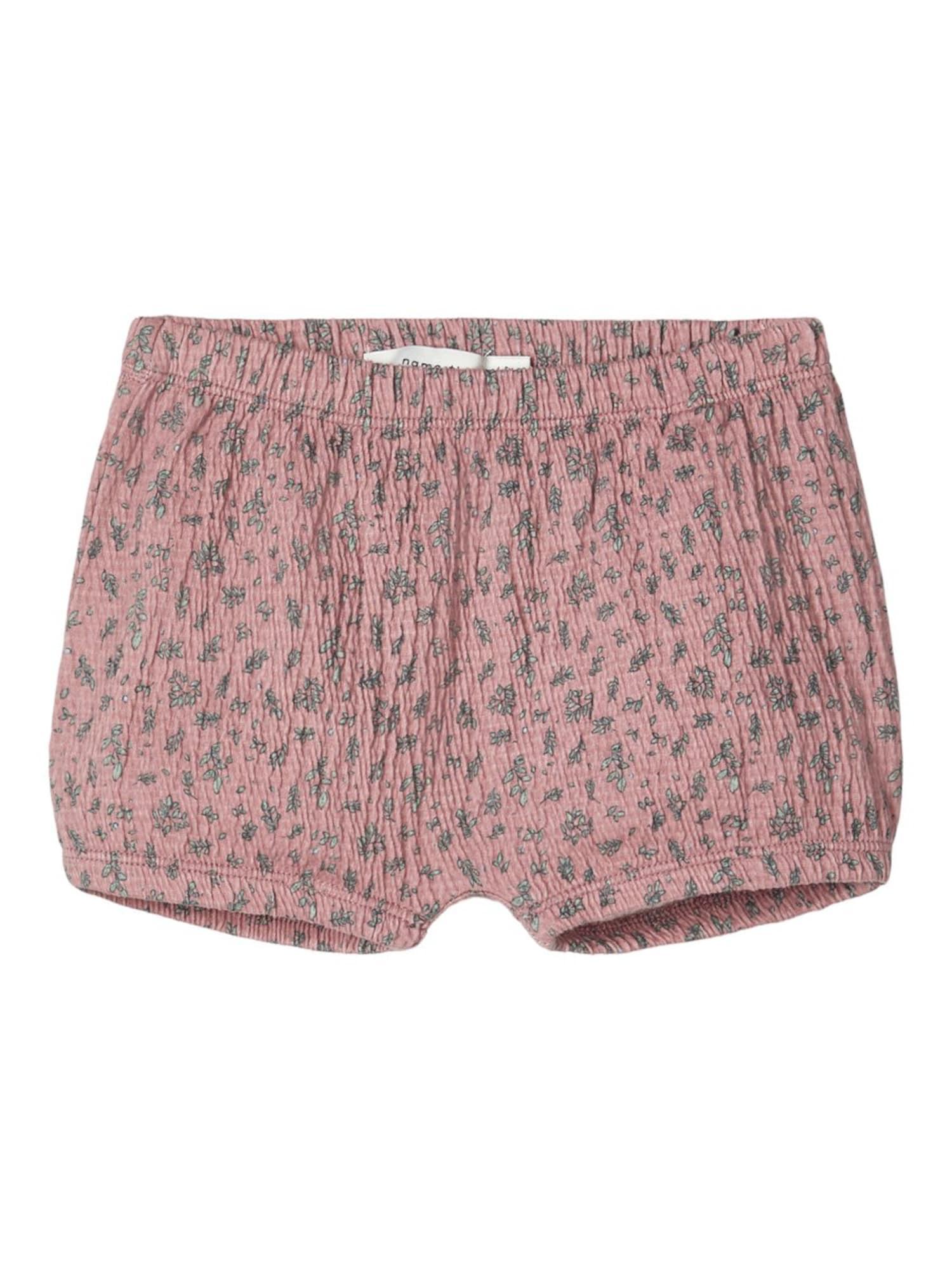 NAME IT Kelnės ryškiai rožinė spalva / pastelinė žalia