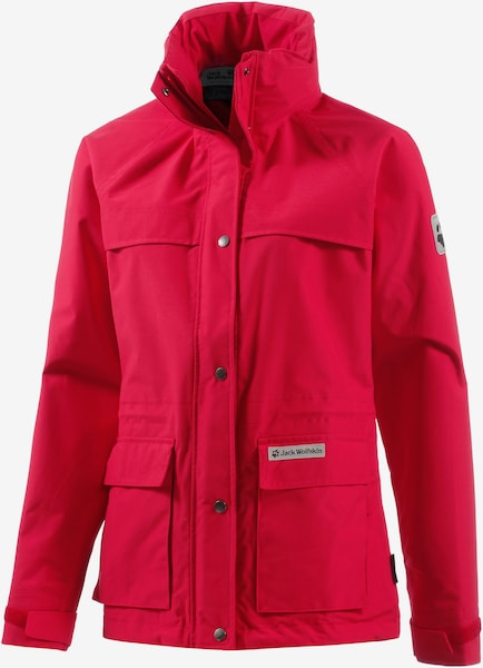 jack wolfskin outdoorjacke damen rainy days in rot about you. Black Bedroom Furniture Sets. Home Design Ideas