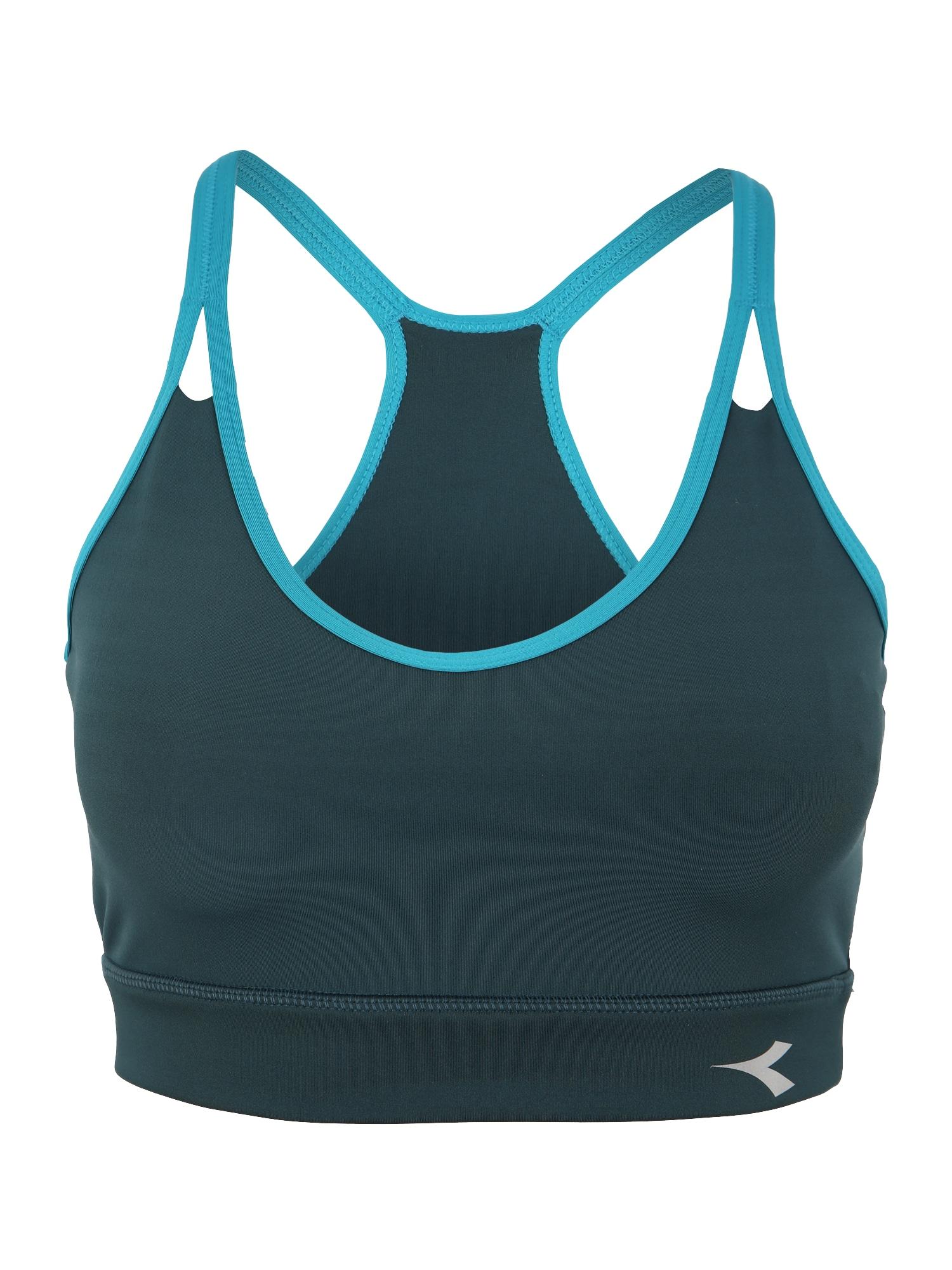 Sportovní podprsenka modrá zelená Diadora