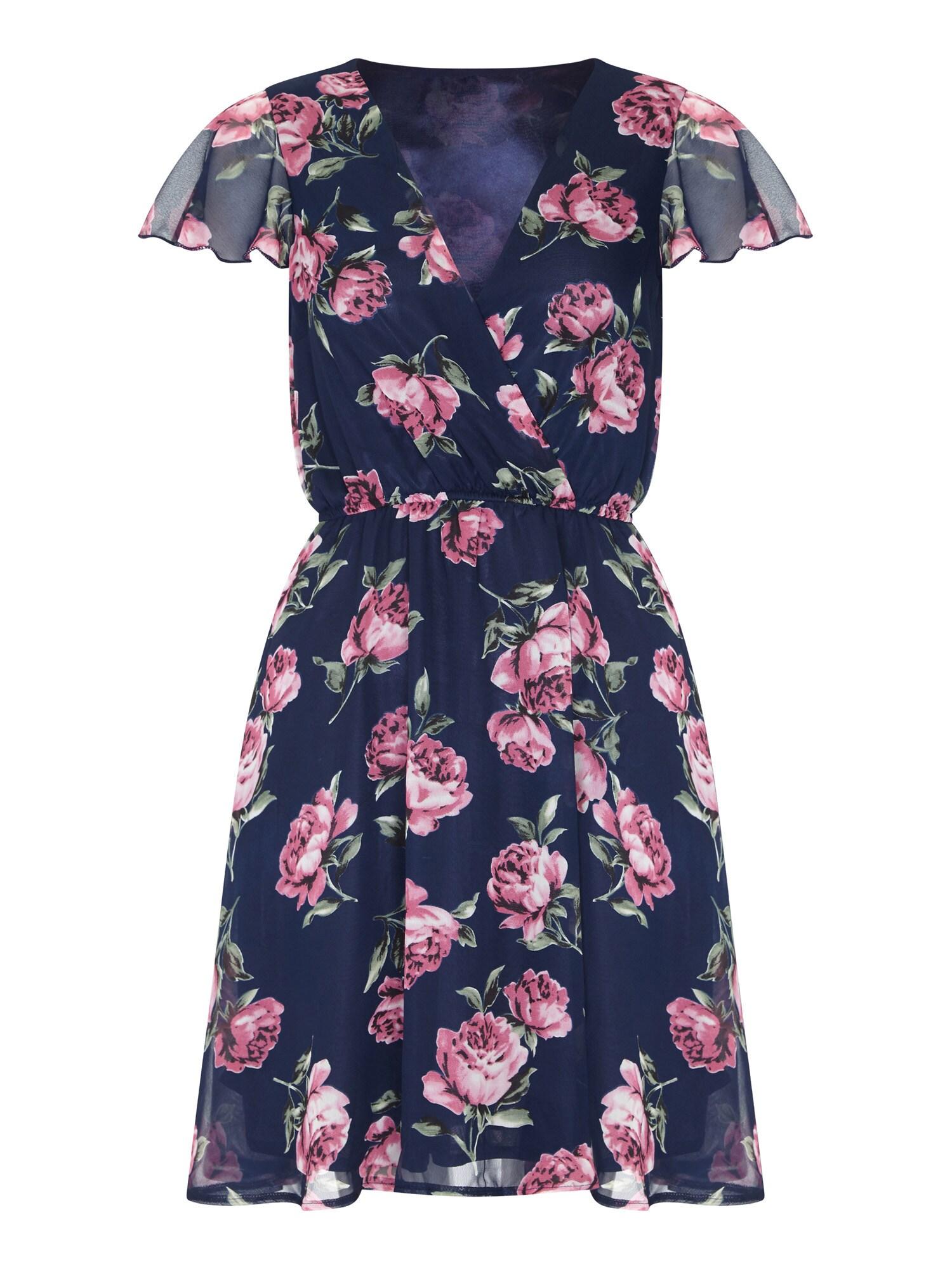 Letní šaty námořnická modř pink Mela London