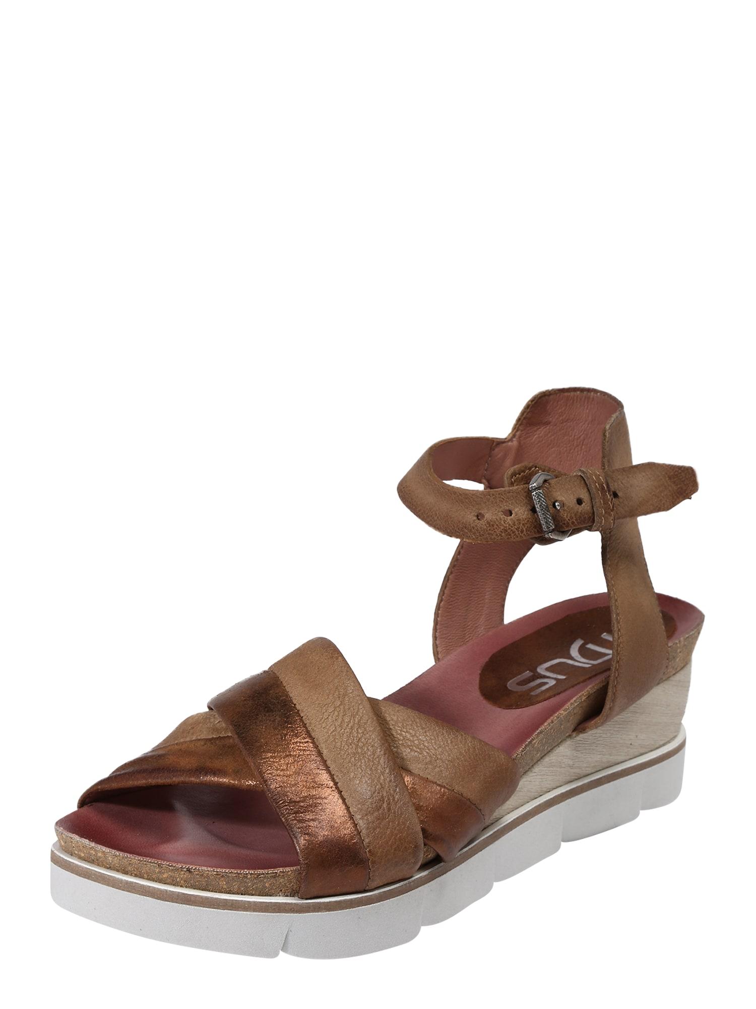 Páskové sandály TAPASITA bronzová MJUS