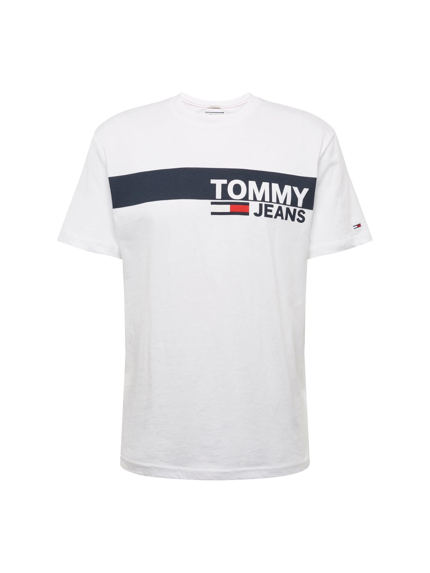 Tommy Jeans Tričko 'ESSENTIAL'  tmavě modrá / červená / bílá