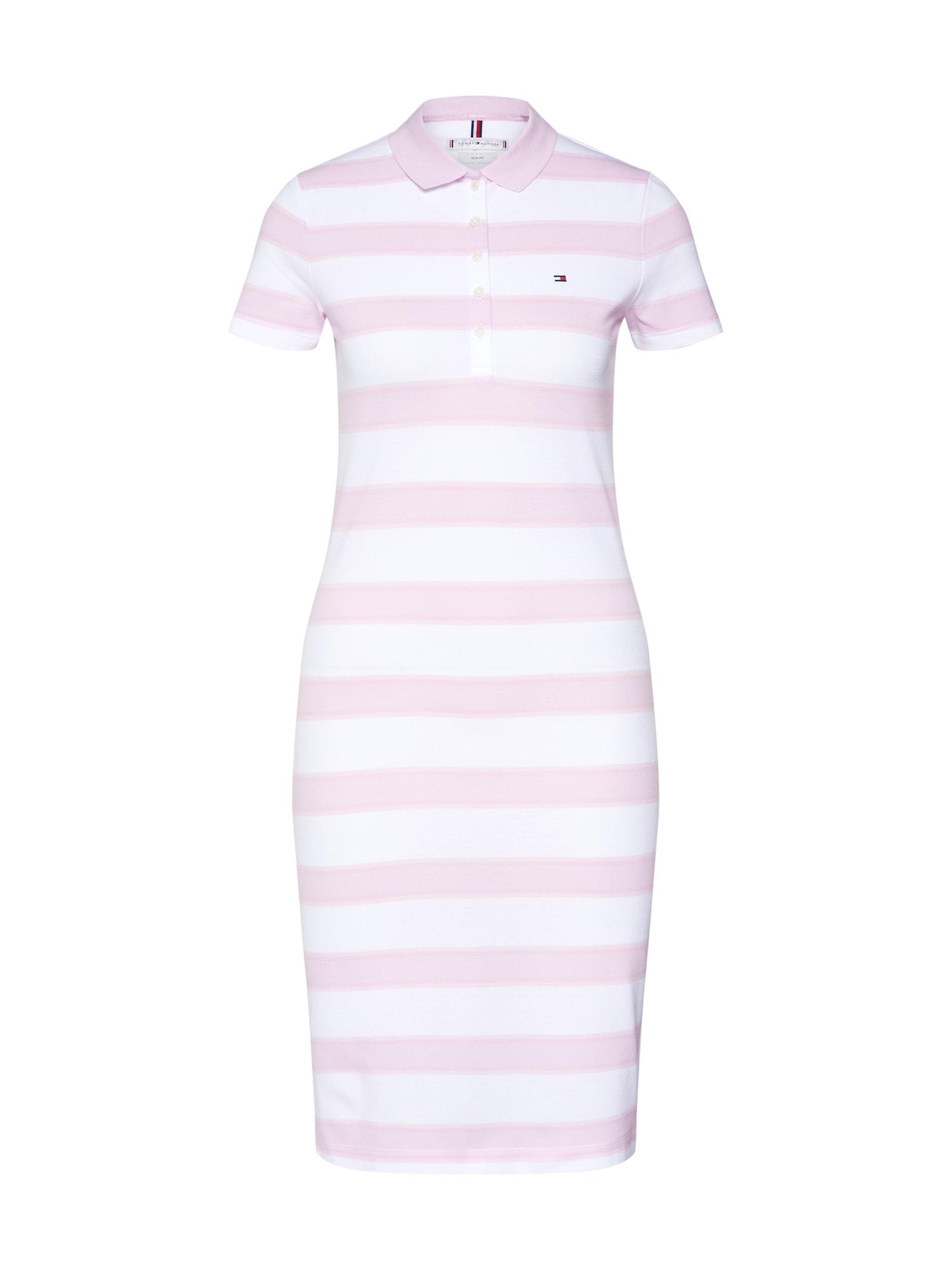 Šaty New Chiara pink bílá TOMMY HILFIGER