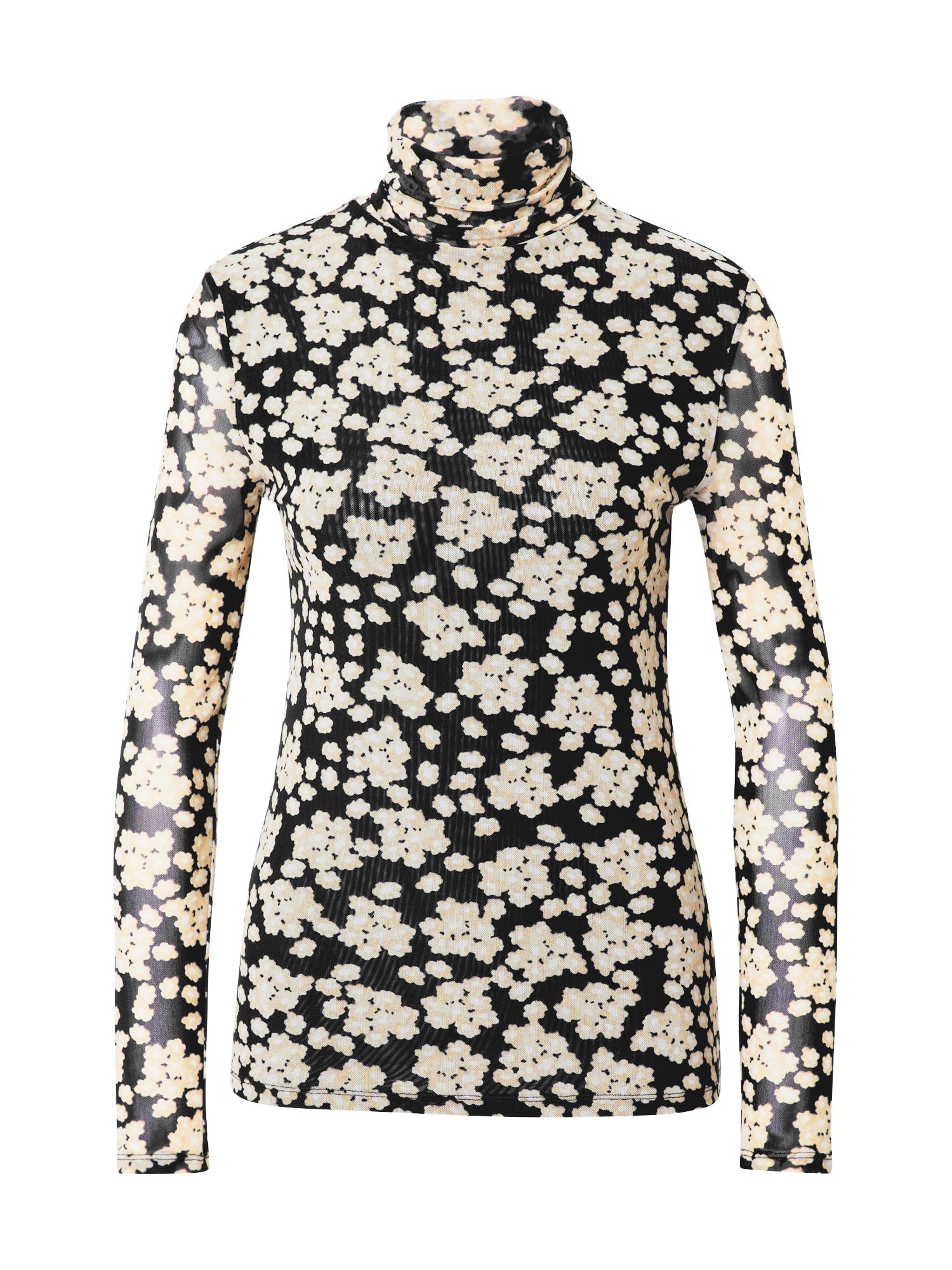 Fabienne Chapot Tričko 'Jane'  bílá / černá / žlutá