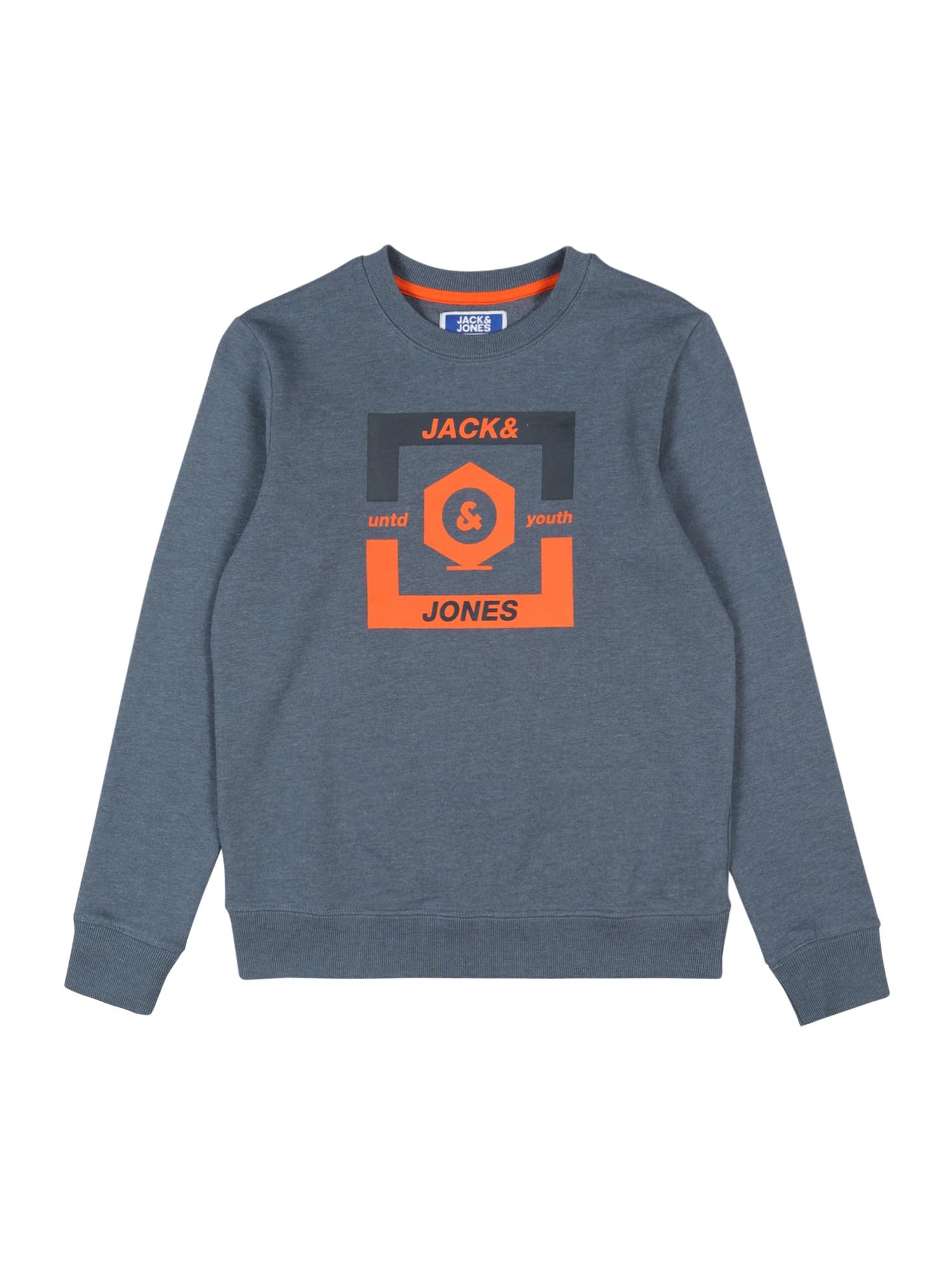 Jack & Jones Junior Megztinis be užsegimo oranžinė / melsvai pilka