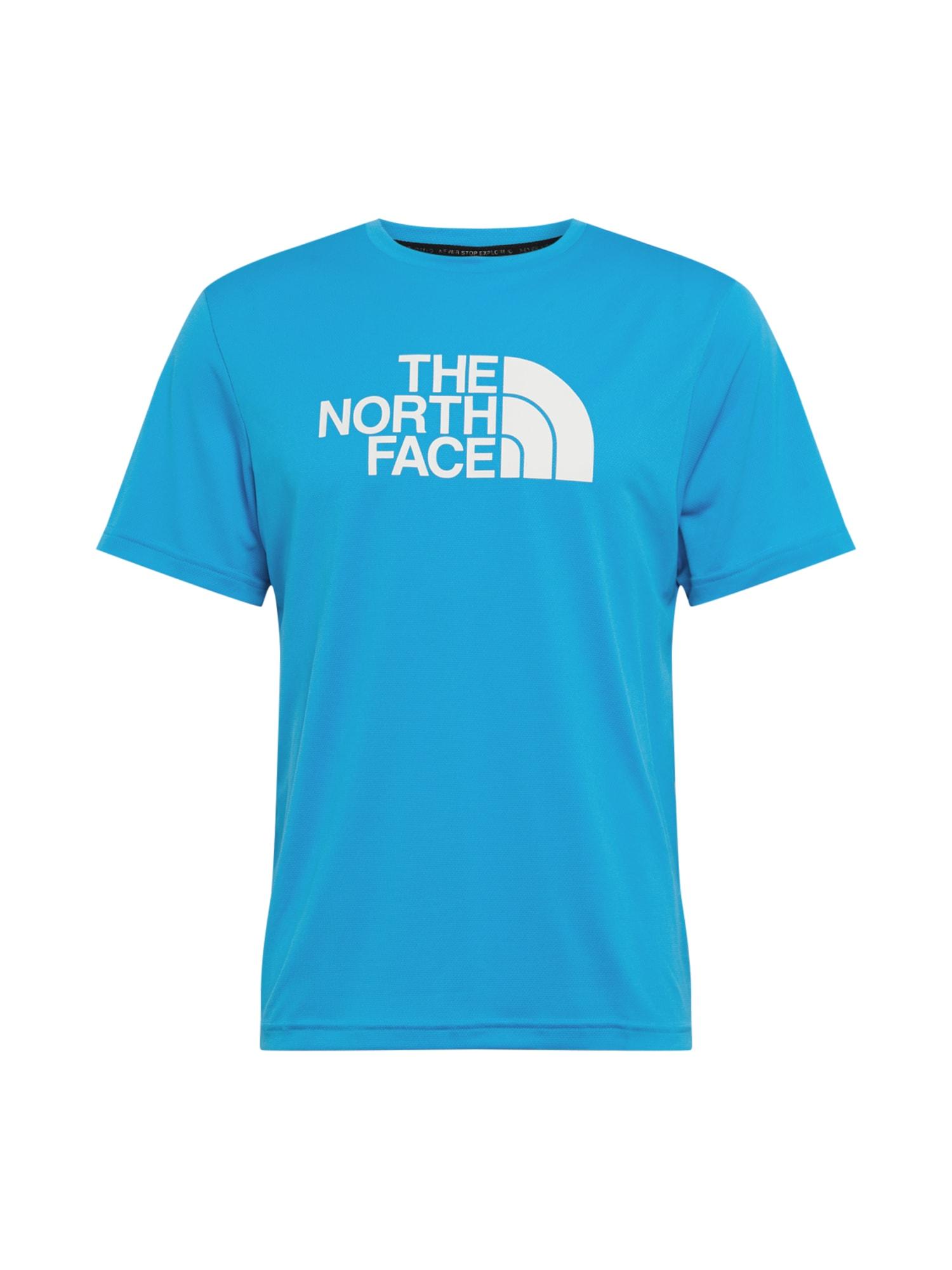 THE NORTH FACE Funkční tričko 'Tanken'  světlemodrá / bílá
