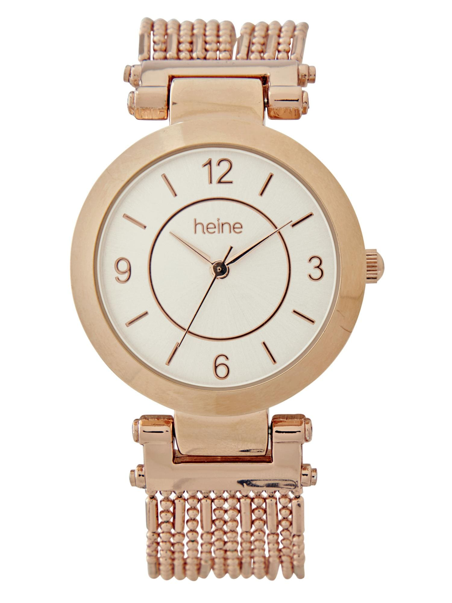 heine Analoginis (įprasto dizaino) laikrodis rožinio aukso spalva / balta