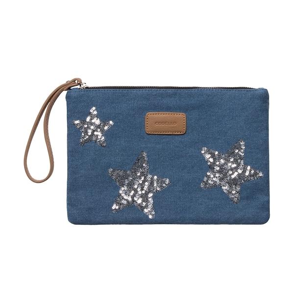 Clutches für Frauen - CODELLO Clutch mit Sternen blau blue denim  - Onlineshop ABOUT YOU