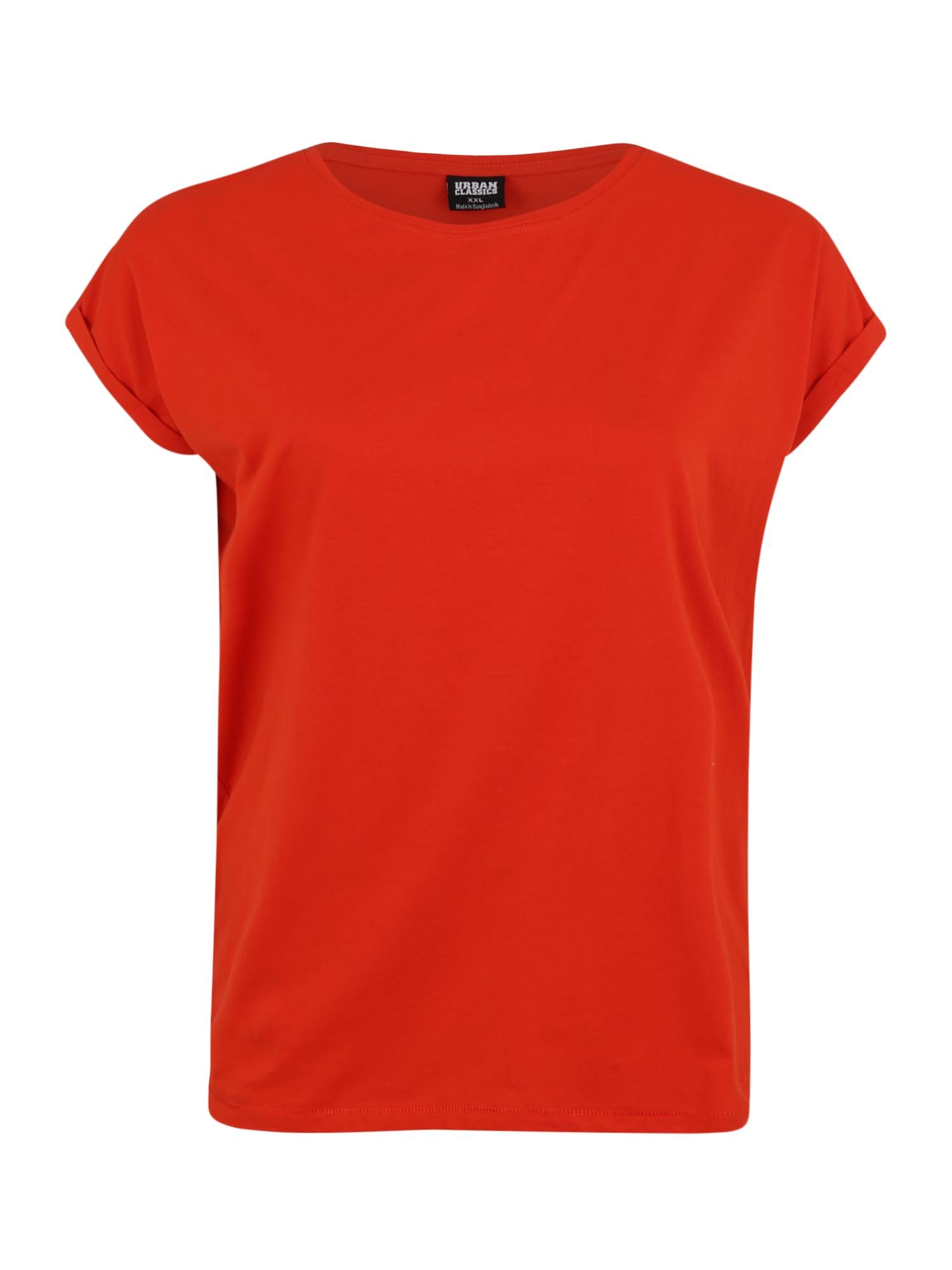 Urban Classics Tričko  oranžovo červená