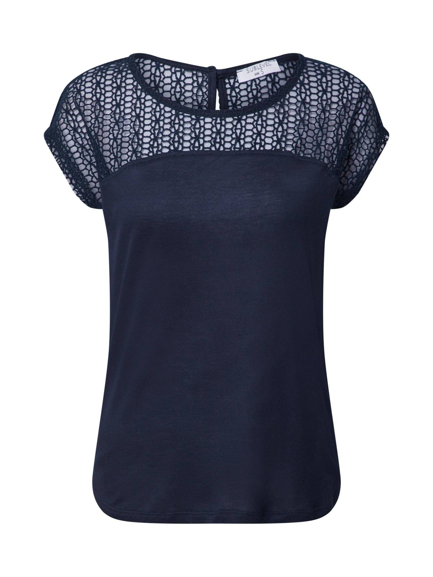 Sublevel Marškinėliai mėlyna