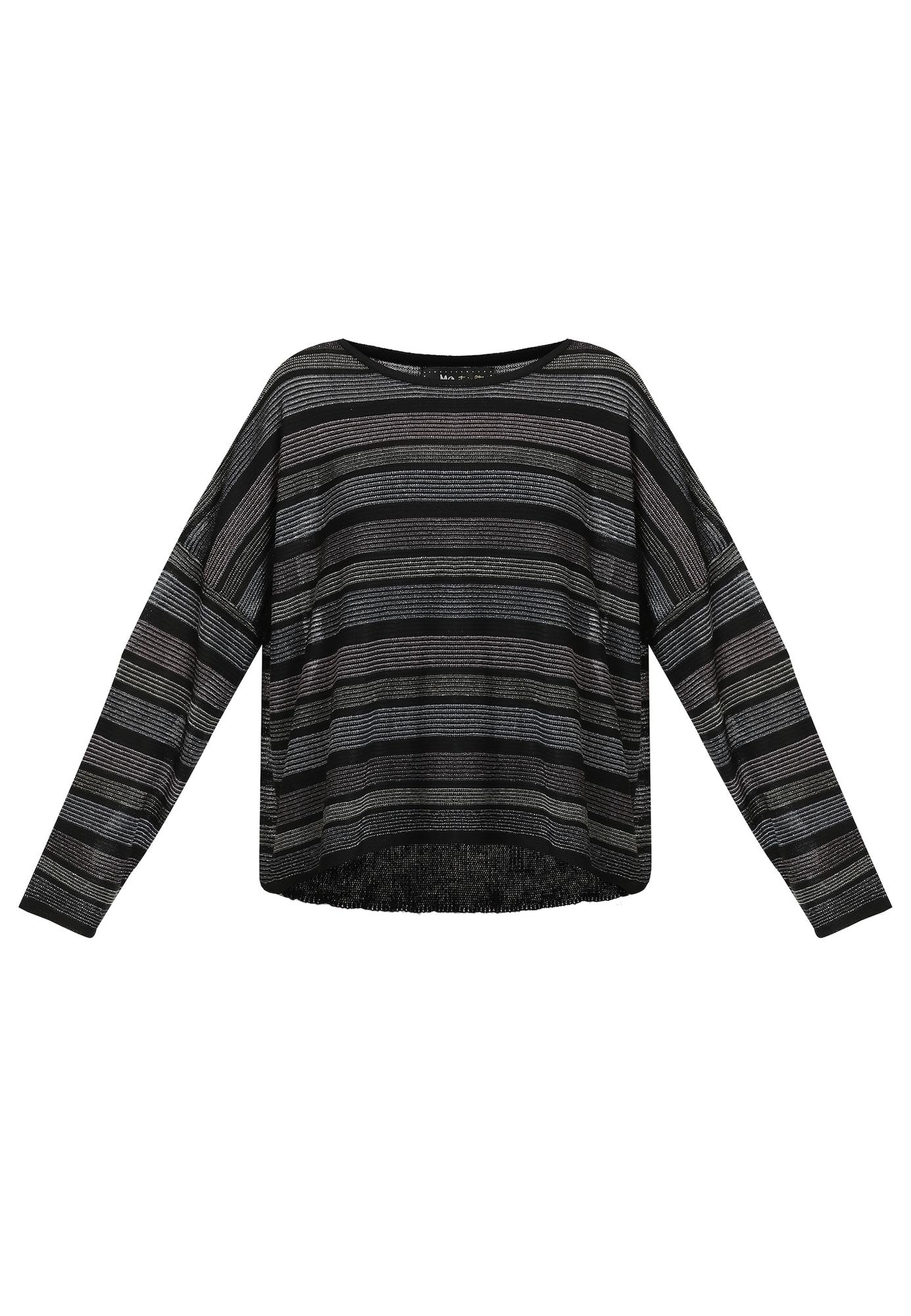myMo at night Laisvas megztinis juoda / pilka