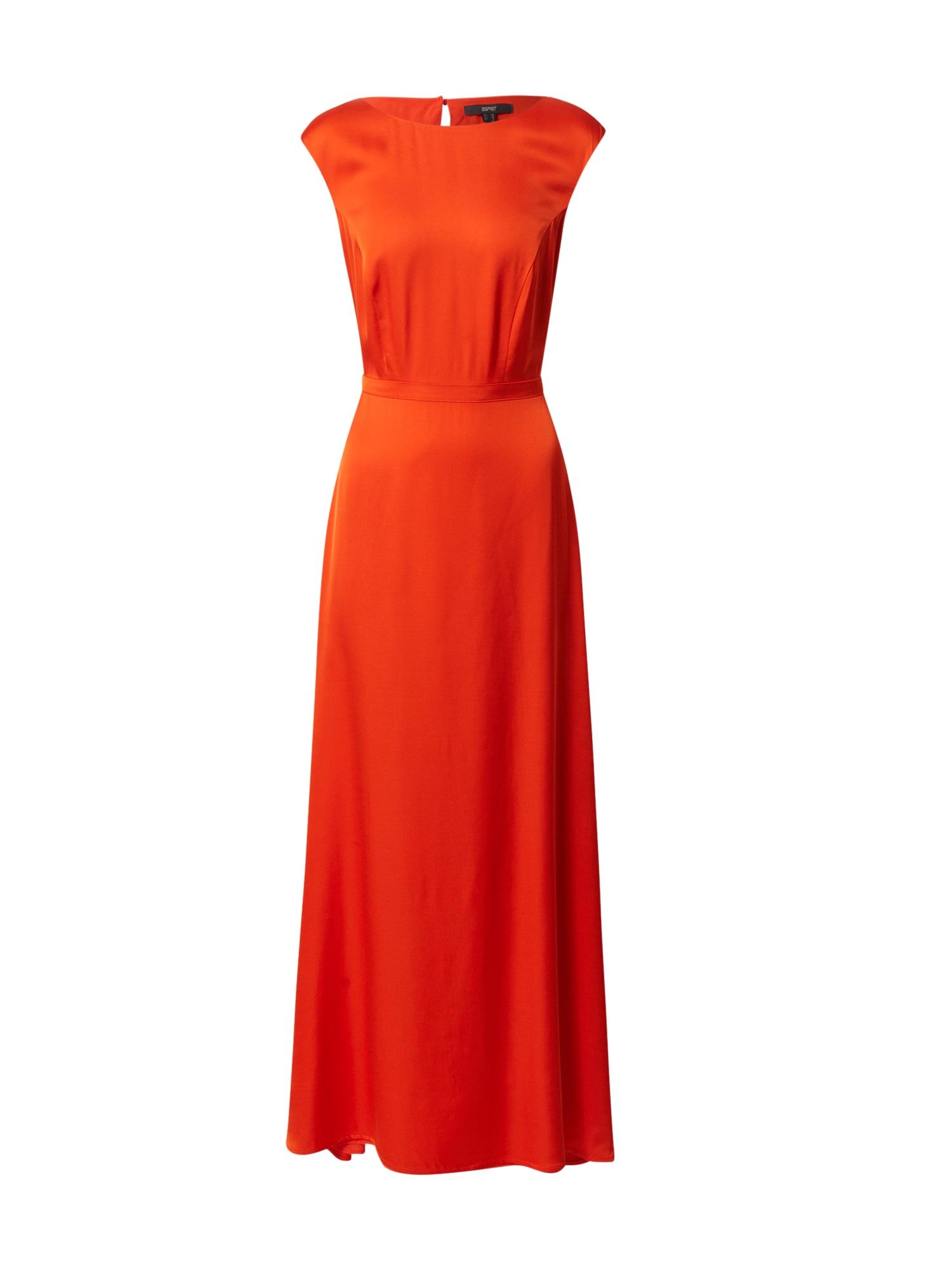 Esprit Collection Vakarinė suknelė oranžinė-raudona