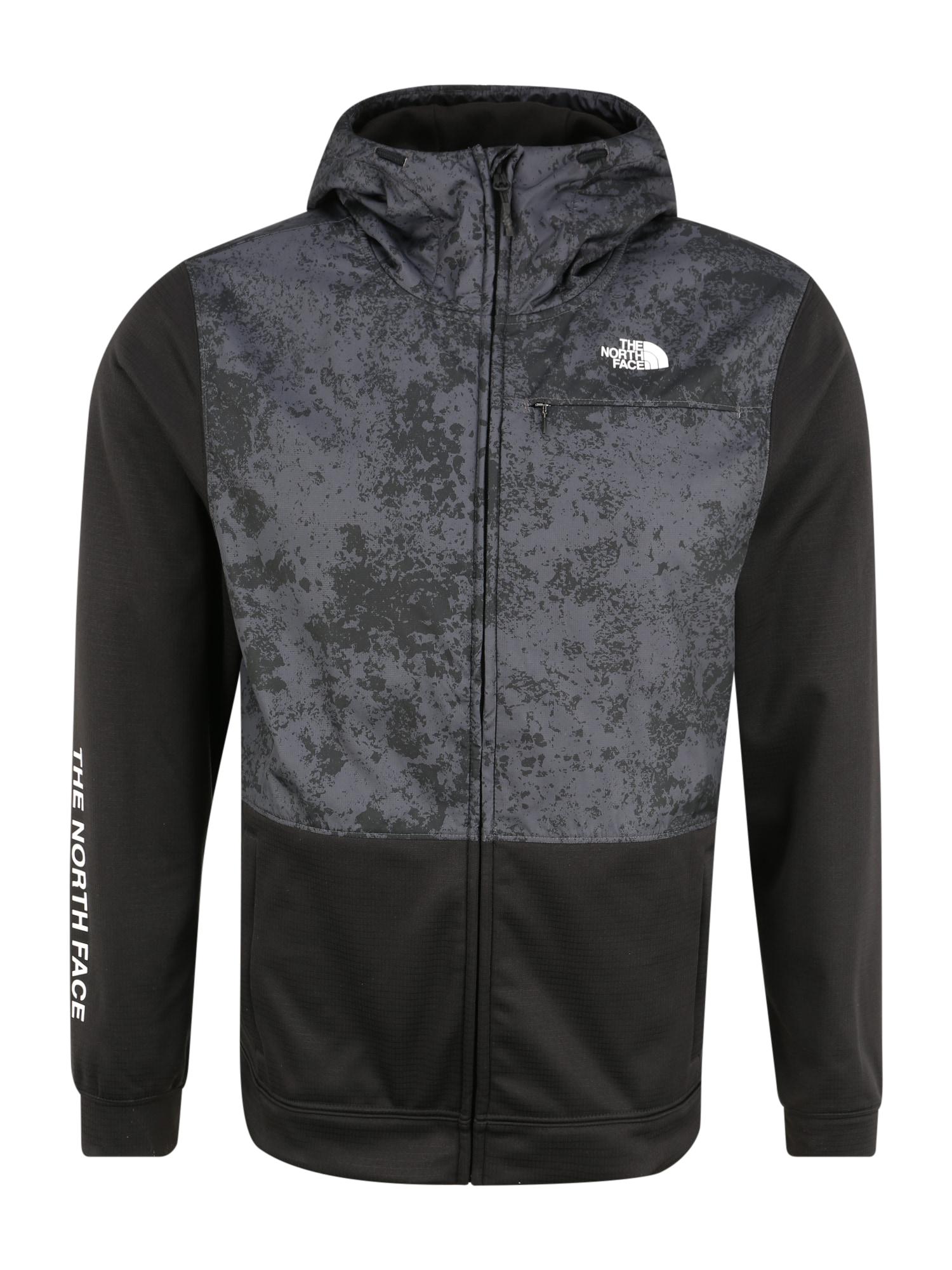 THE NORTH FACE Sportovní bunda 'M TRAIN N LOGO OVERLAY JACKET'  tmavě šedá / černá