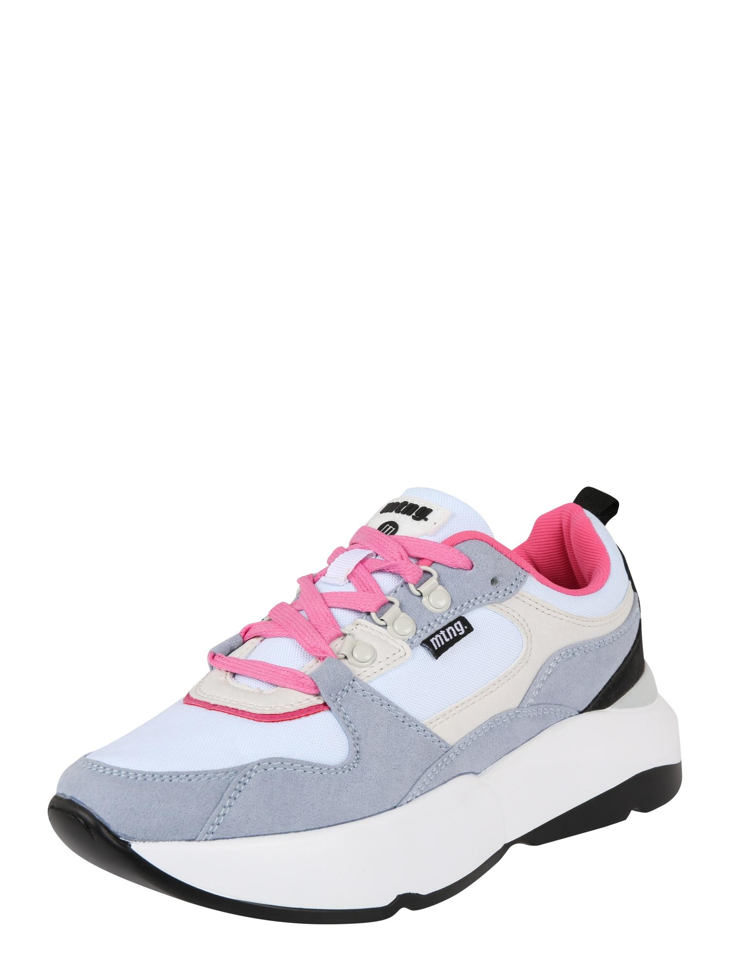 Tenisky MONSTER světle šedá pink offwhite MTNG