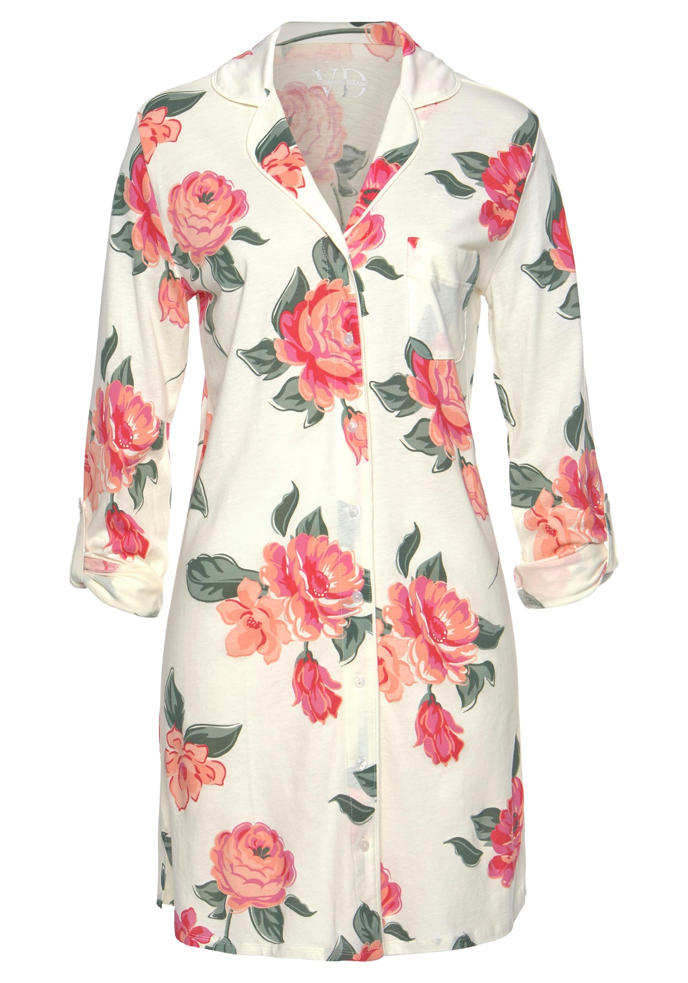 VIVANCE Nachthemd  béžová / pastelovo ružová