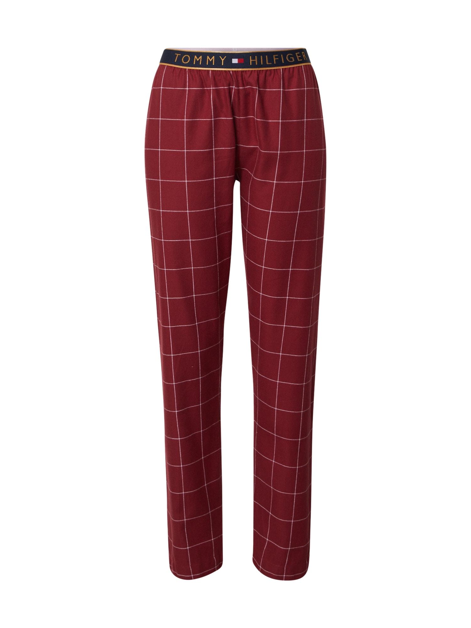 Tommy Hilfiger Underwear Pižaminės kelnės skaisti avietinė ar rubino spalva