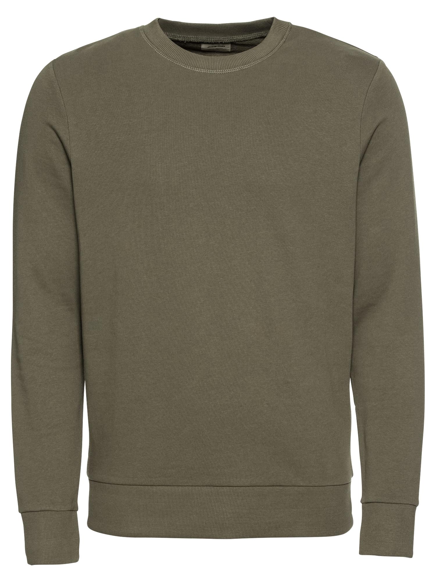 JACK & JONES Megztinis be užsegimo žalia / alyvuogių spalva