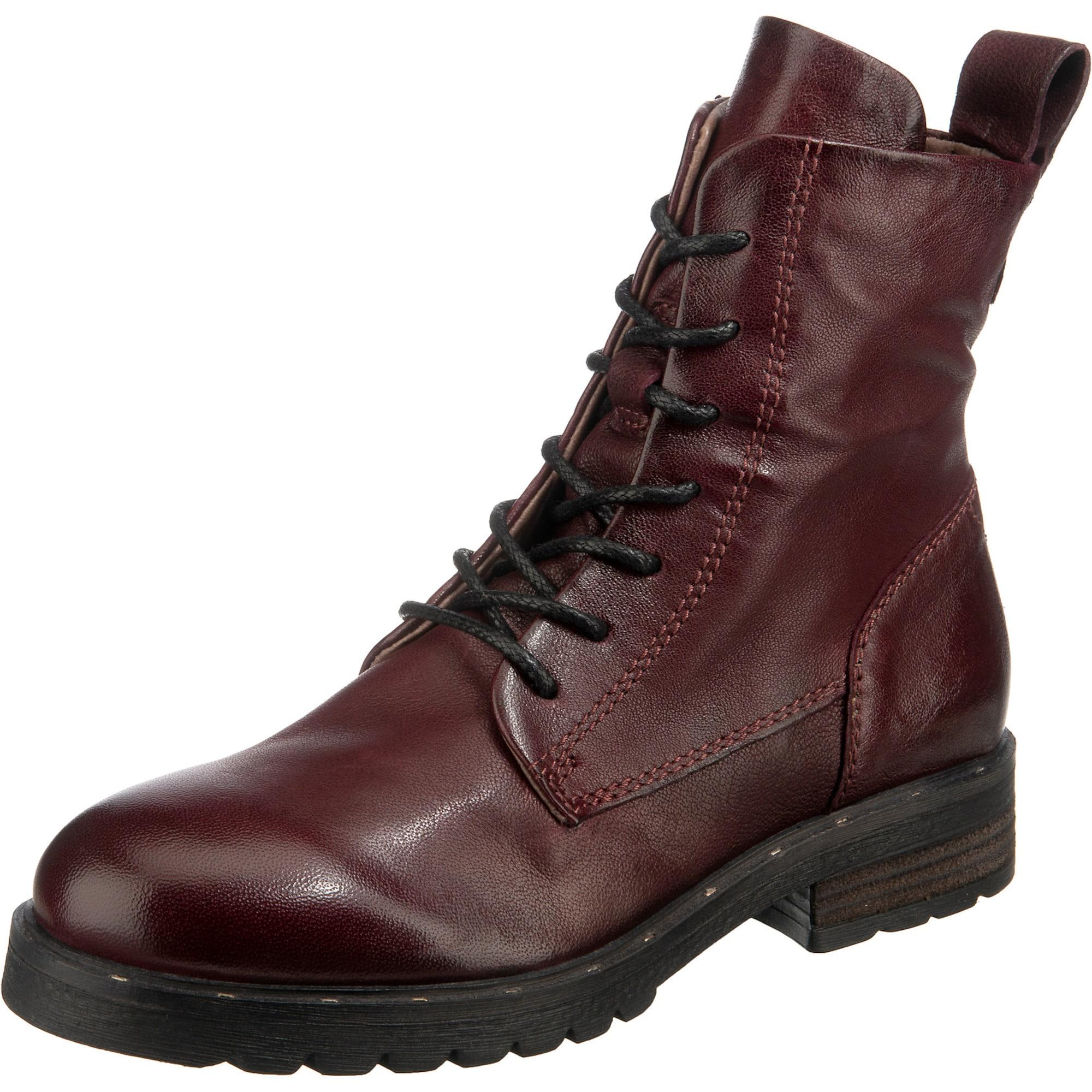 MJUS Suvarstomieji kulkšnis dengiantys batai vyšninė spalva