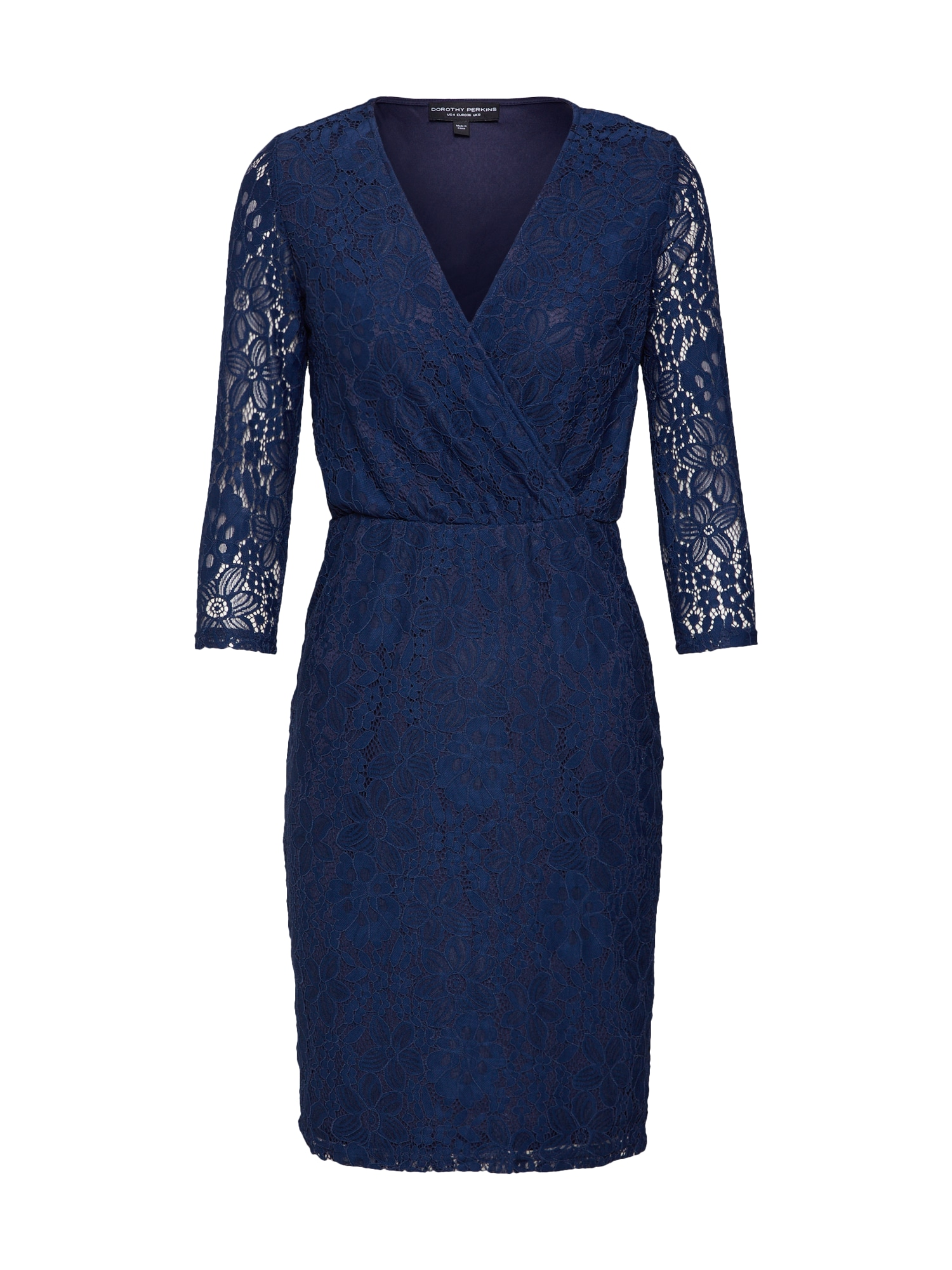 Dorothy Perkins Rochie 'WRAP LACE BODYCON'  navy