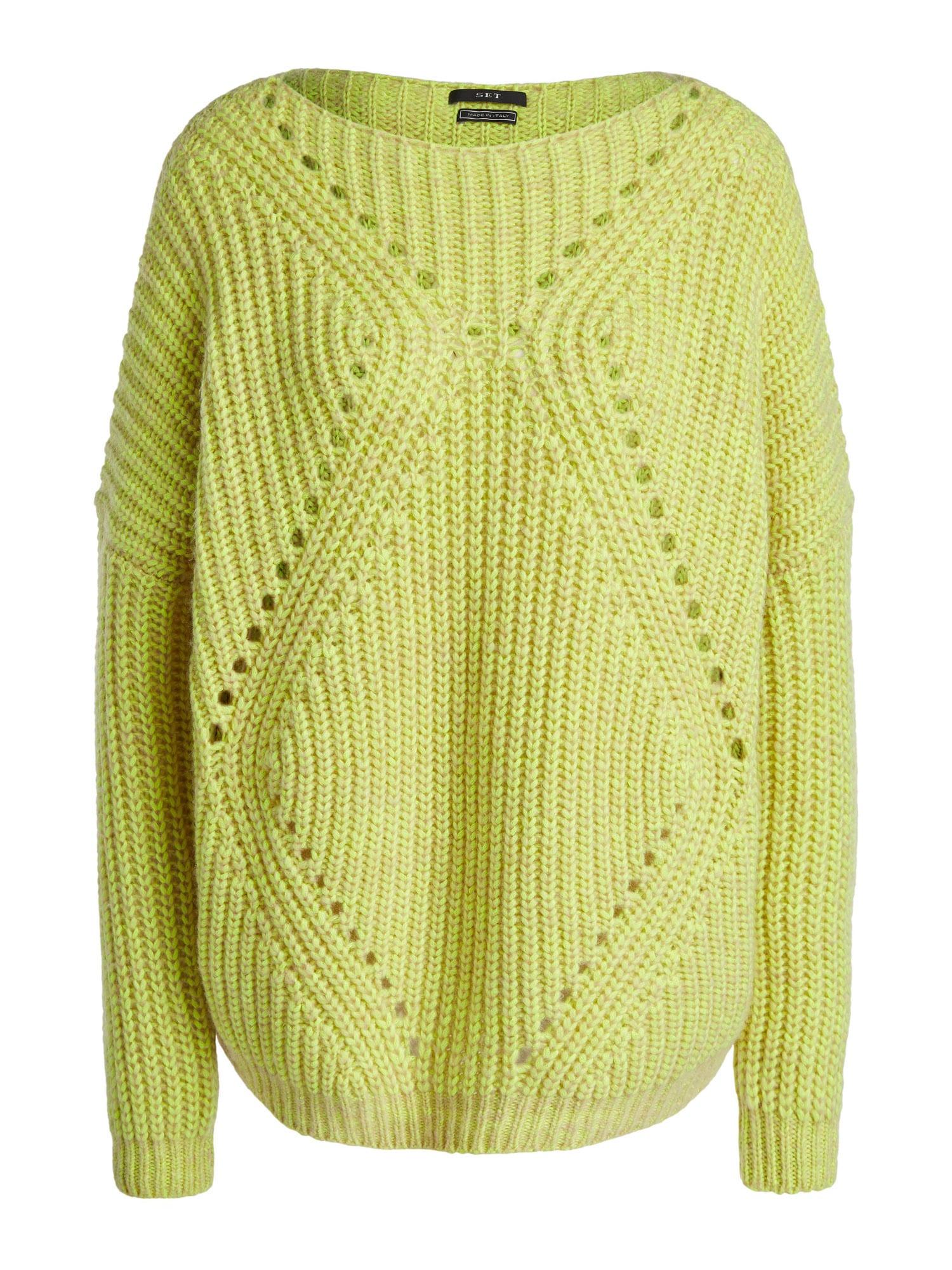 SET Megztinis geltonosios citrinos spalva