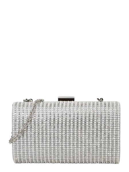 Clutches für Frauen - Mascara Clutch 'SPARKLE PEARL' silber weiß  - Onlineshop ABOUT YOU
