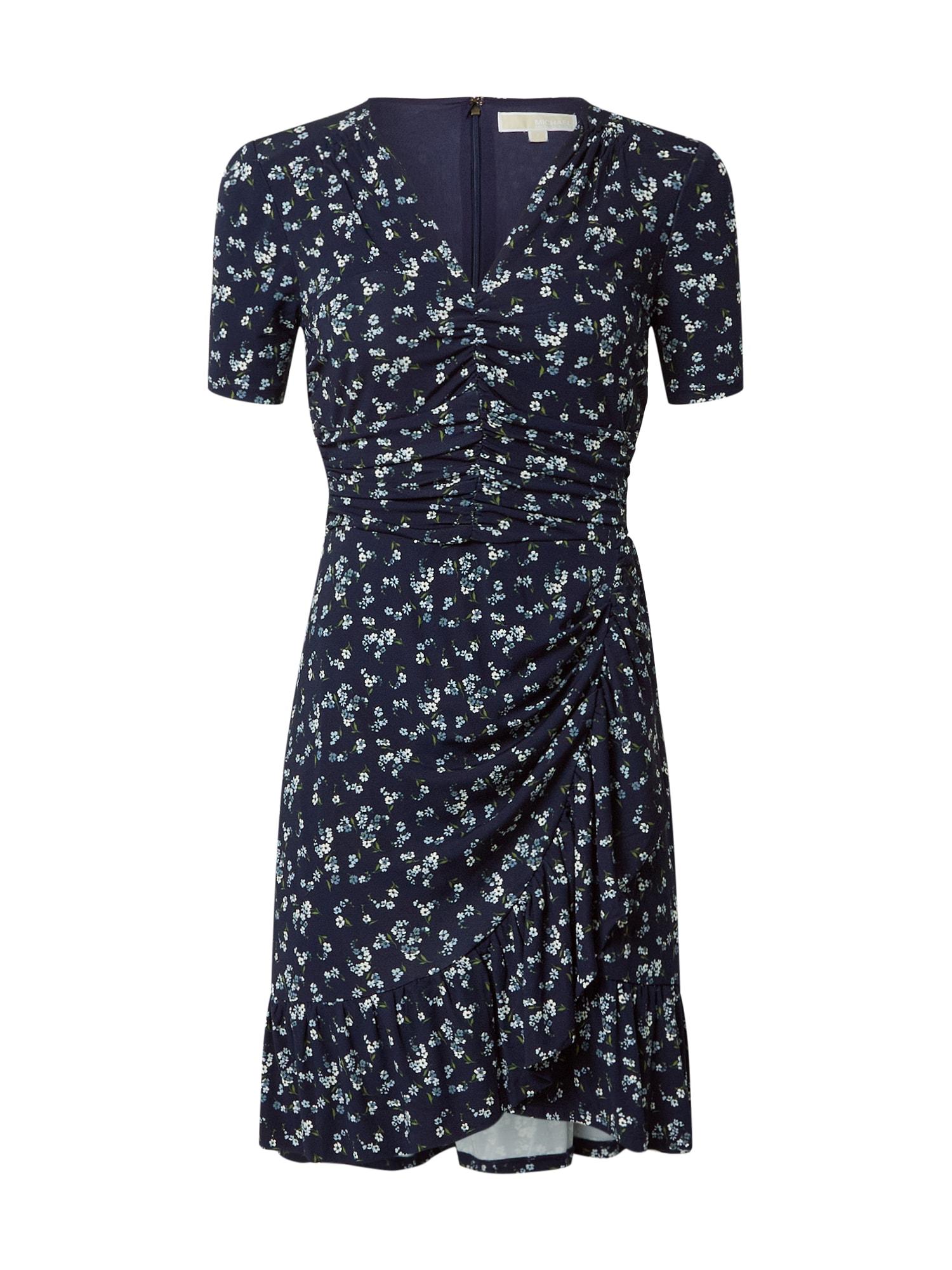 MICHAEL Michael Kors Vasarinė suknelė tamsiai mėlyna / šviesiai mėlyna / balta / žalia