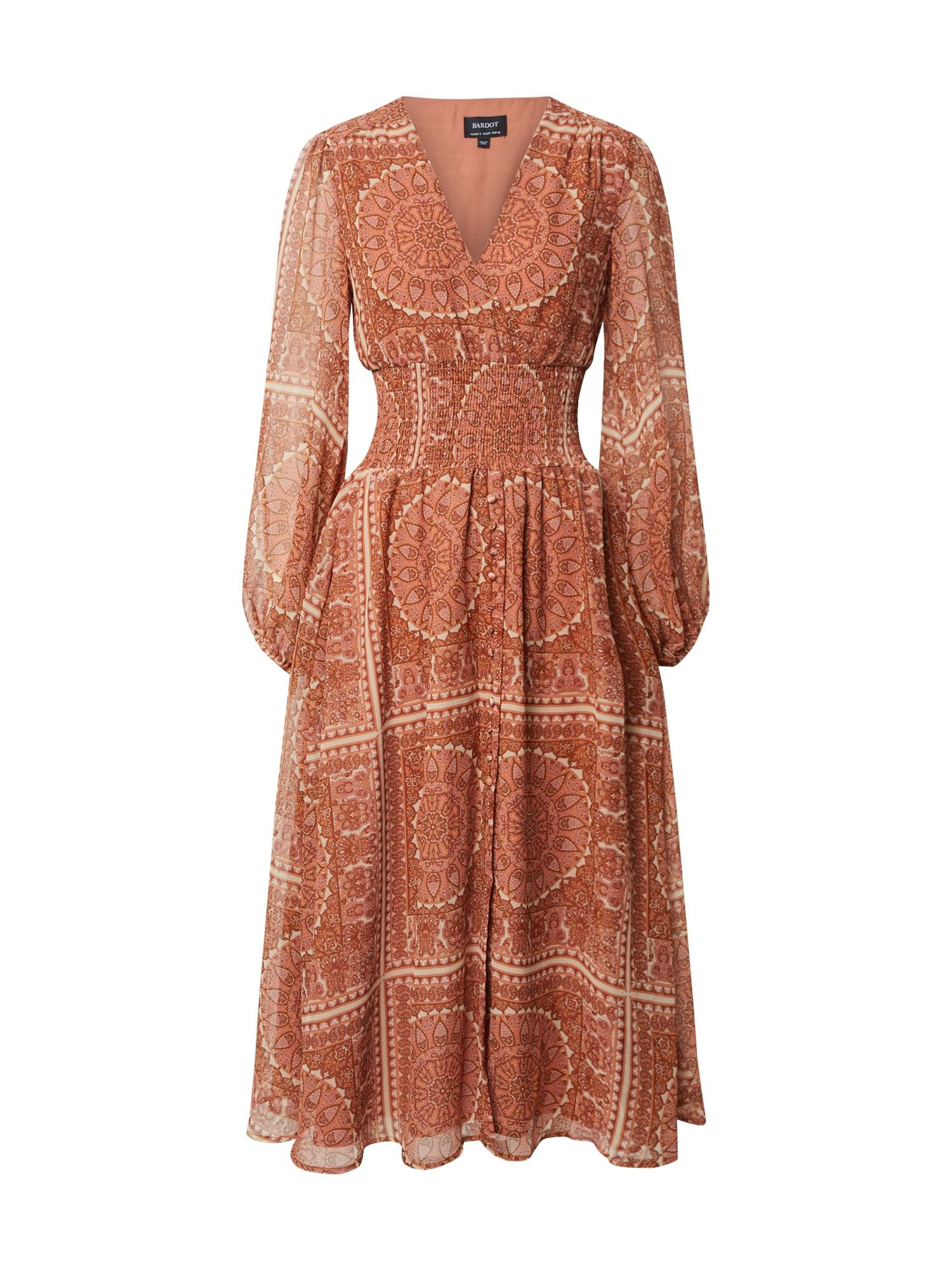Bardot Vasarinė suknelė 'MARA' ruda / oranžinė