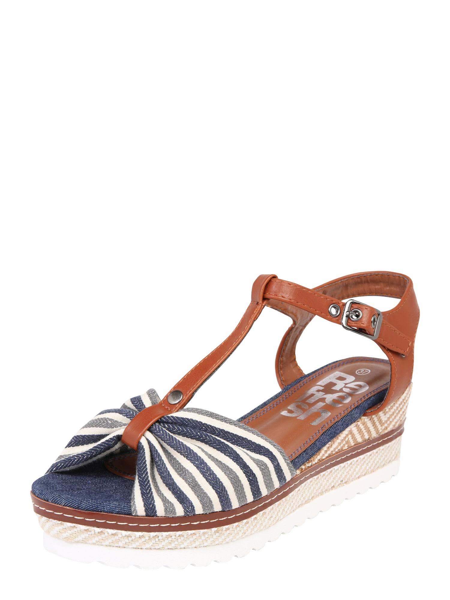 Páskové sandály 69979 námořnická modř Refresh