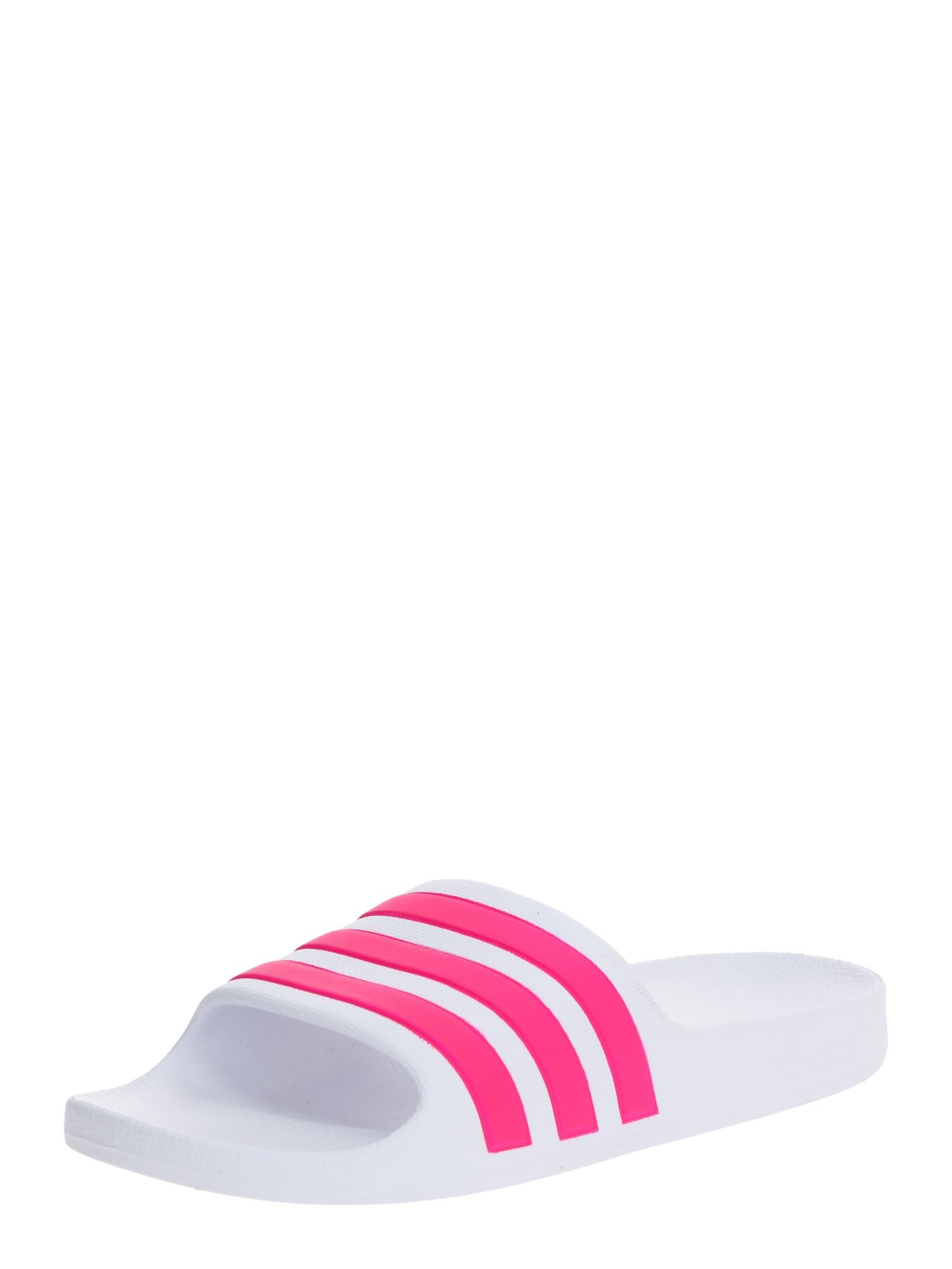 ADIDAS PERFORMANCE Sandalai / maudymosi batai 'Adilette' balta / rožinė