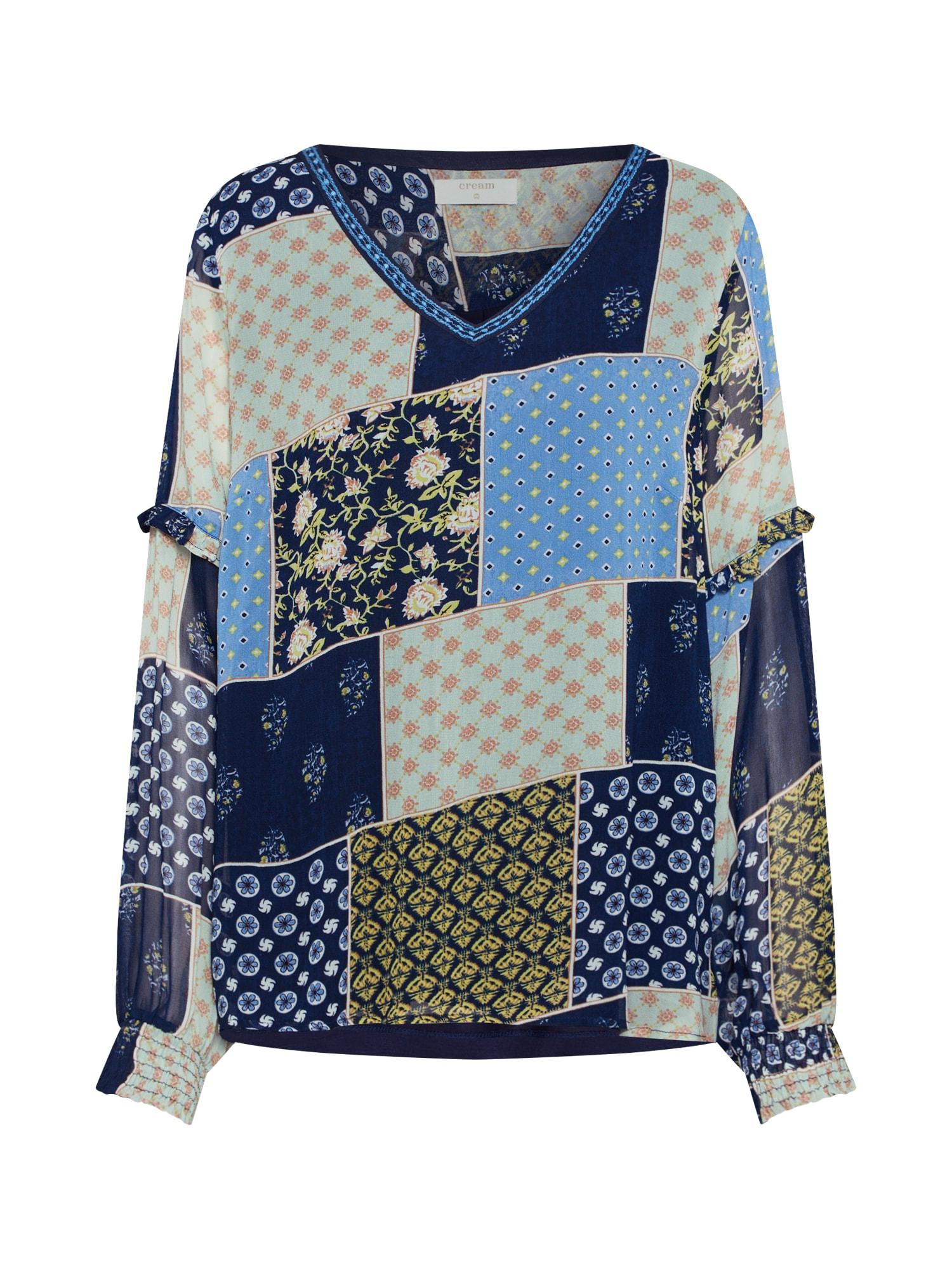 Cream Palaidinė 'ClodieCr blouse' ruda / tamsiai (džinso) mėlyna / pilka