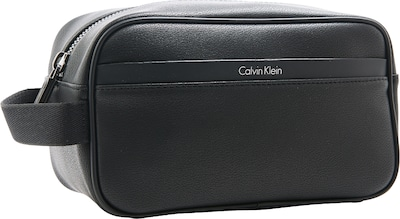 Calvin Klein Kulturbeutel in Leder-Optik 'Elias'