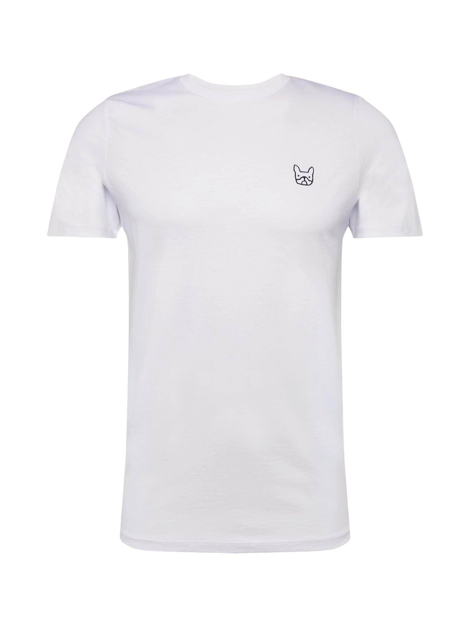 JACK & JONES Marškinėliai 'JJEDENIM LOGO TEE SS O-NECK NOOS' balta