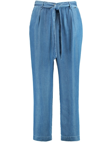 Hosen - Hose Jeans verkürzt Lässige Lyocell Hose in Denim Optik › SAMOON › blau  - Onlineshop ABOUT YOU